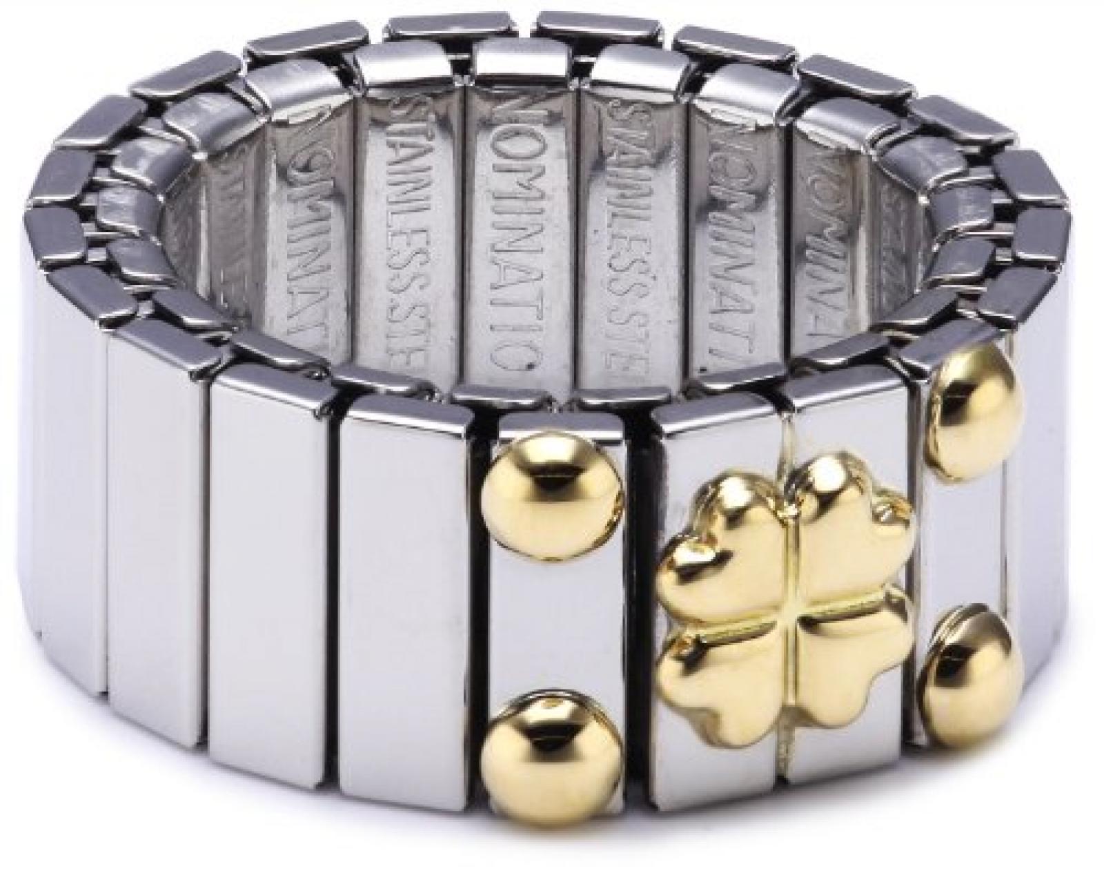 Nomination Damen-Ring Mittel Mit 1 Symbol Glucksklee Ring größe variabel 040020/004