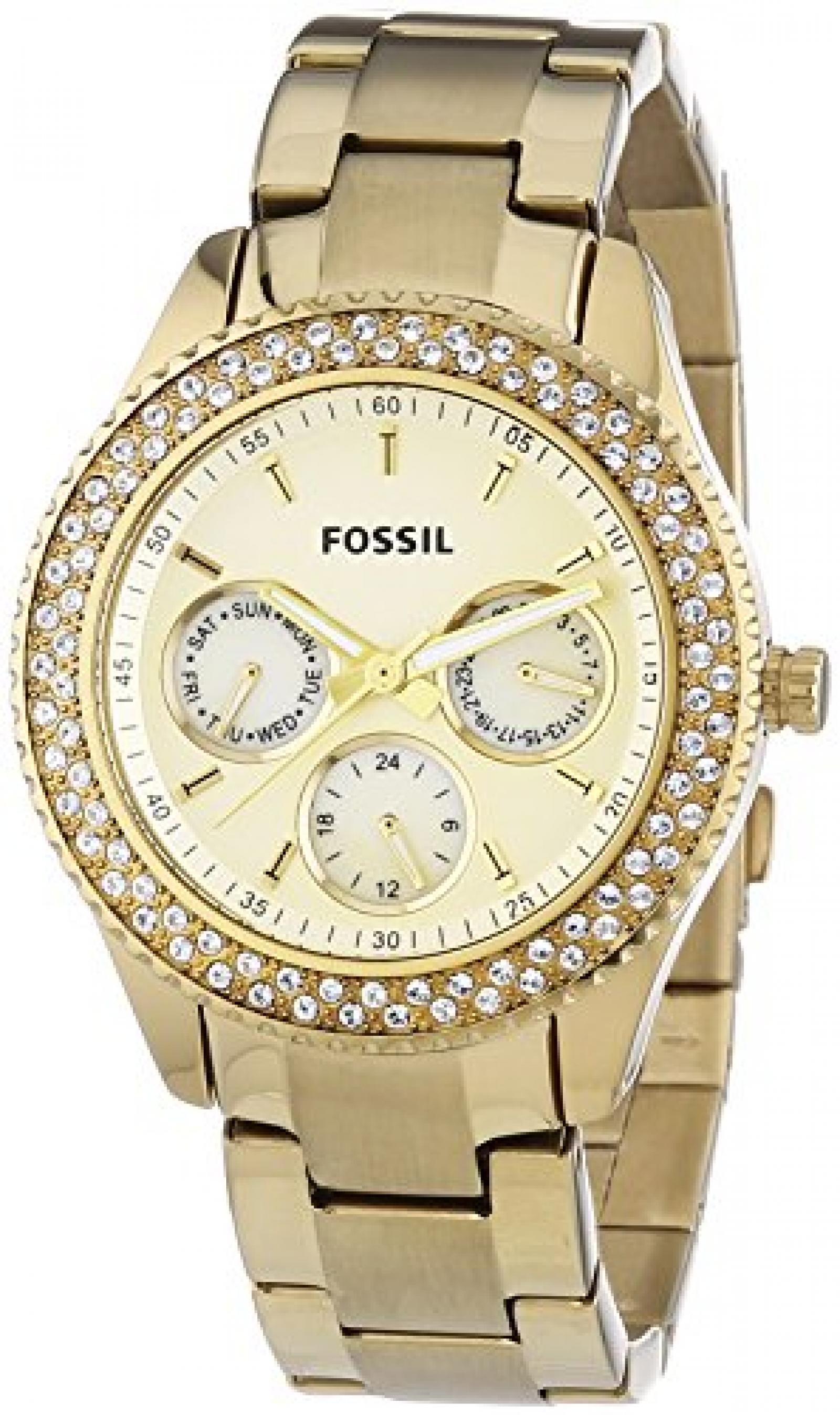 FOSSIL Stella Multifunktion Gold Damenuhr ES3101