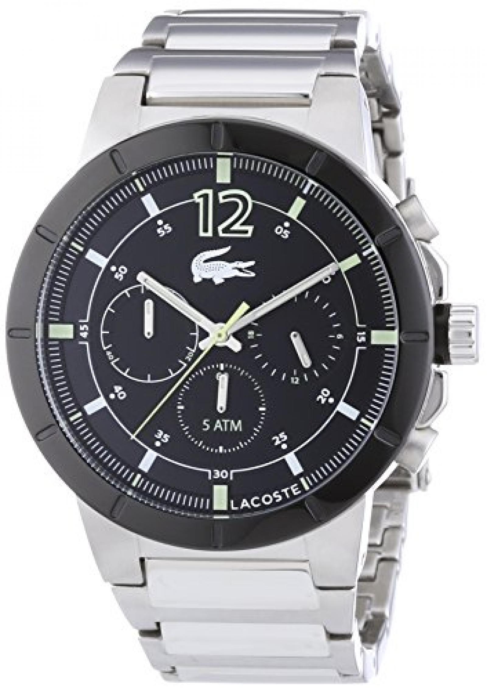 Lacoste Herren-Armbanduhr XL DARWIN Analog Quarz Edelstahl 2010744