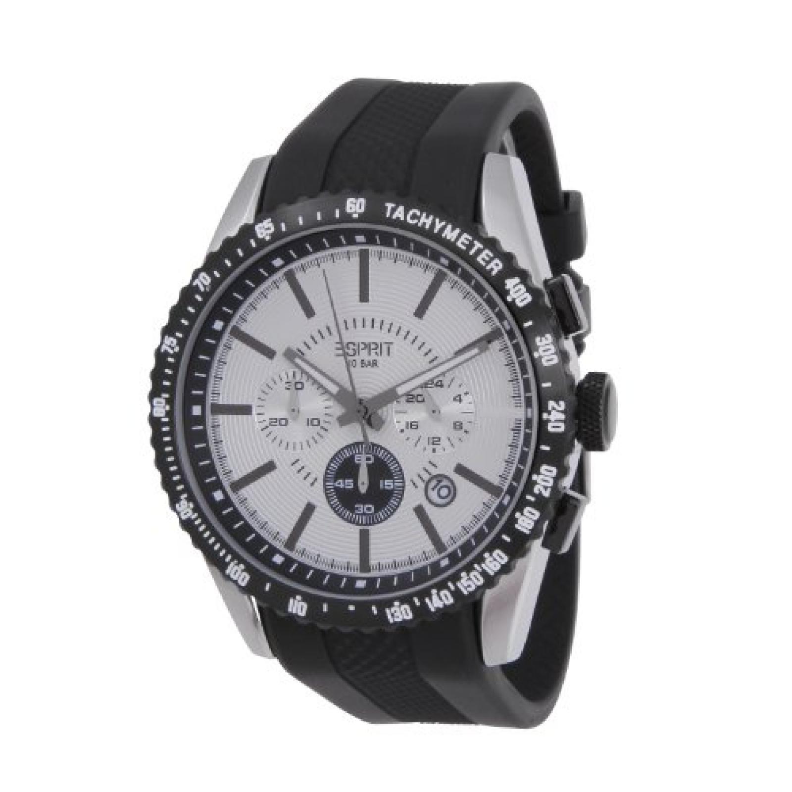 Esprit Herren-Armbanduhr XL Chronograph Kautschuk ES104031001