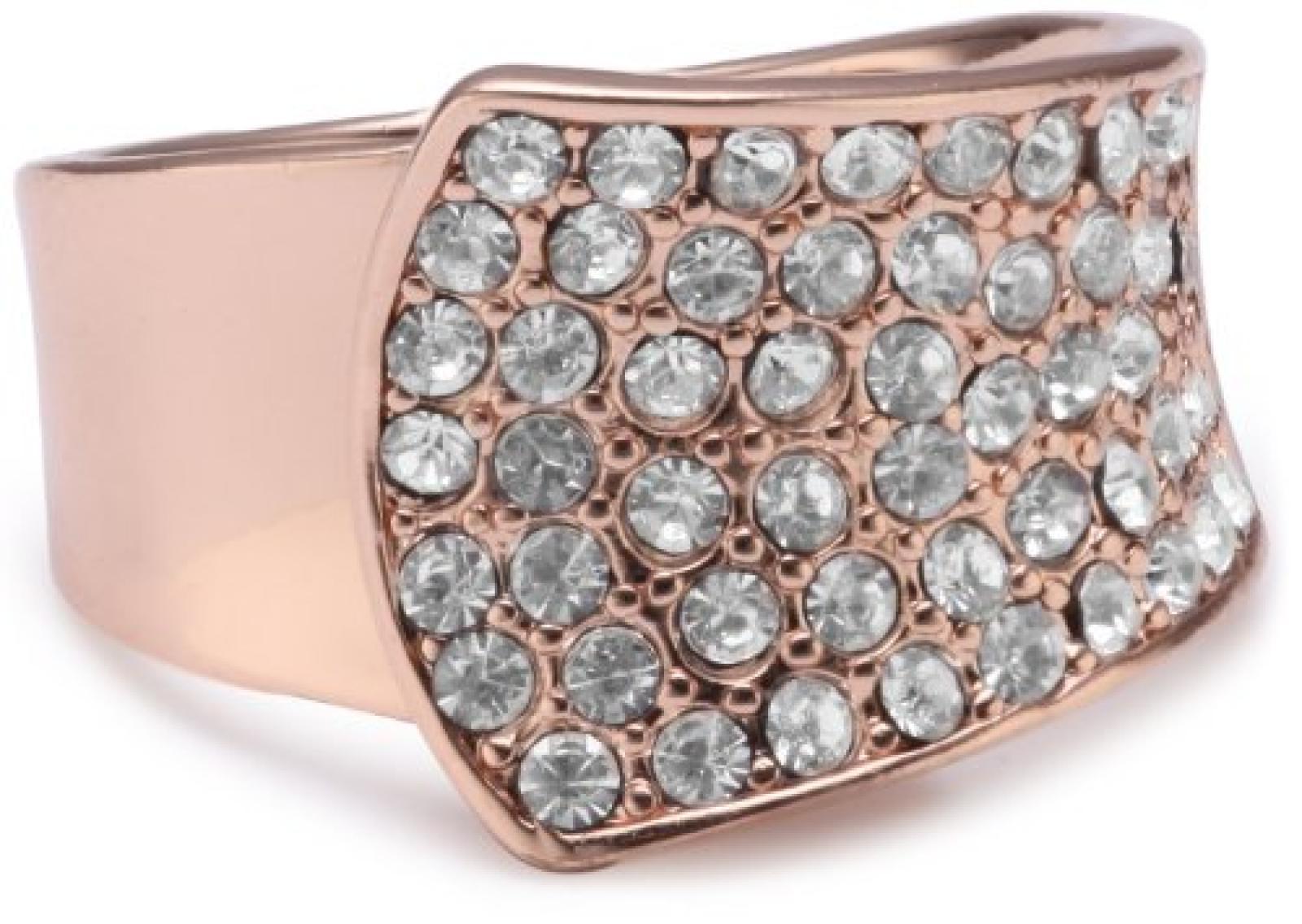 Pilgrim Jewelry Damen-Ring aus der Serie Ringe roségold beschichtet weiß 1.4 cm verstellbar Gr. 51-59 271314014