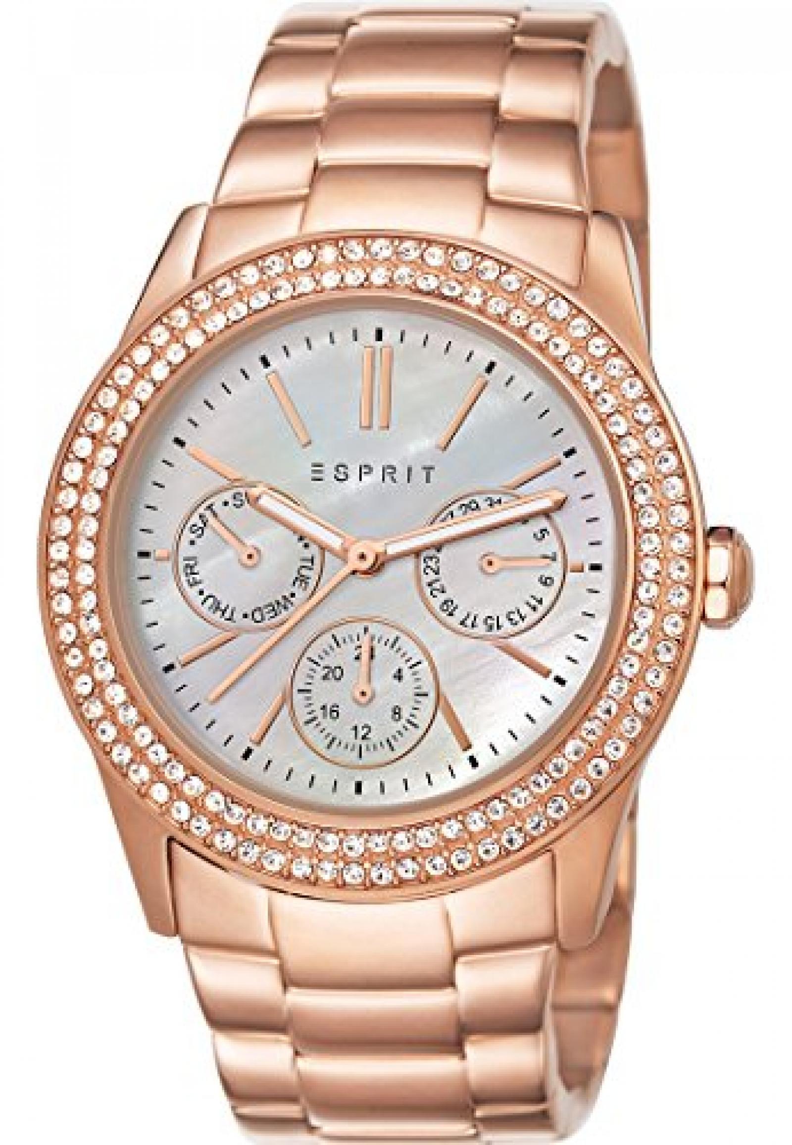Esprit Damen-Armbanduhr Analog Quarz (One Size, perlmutt)
