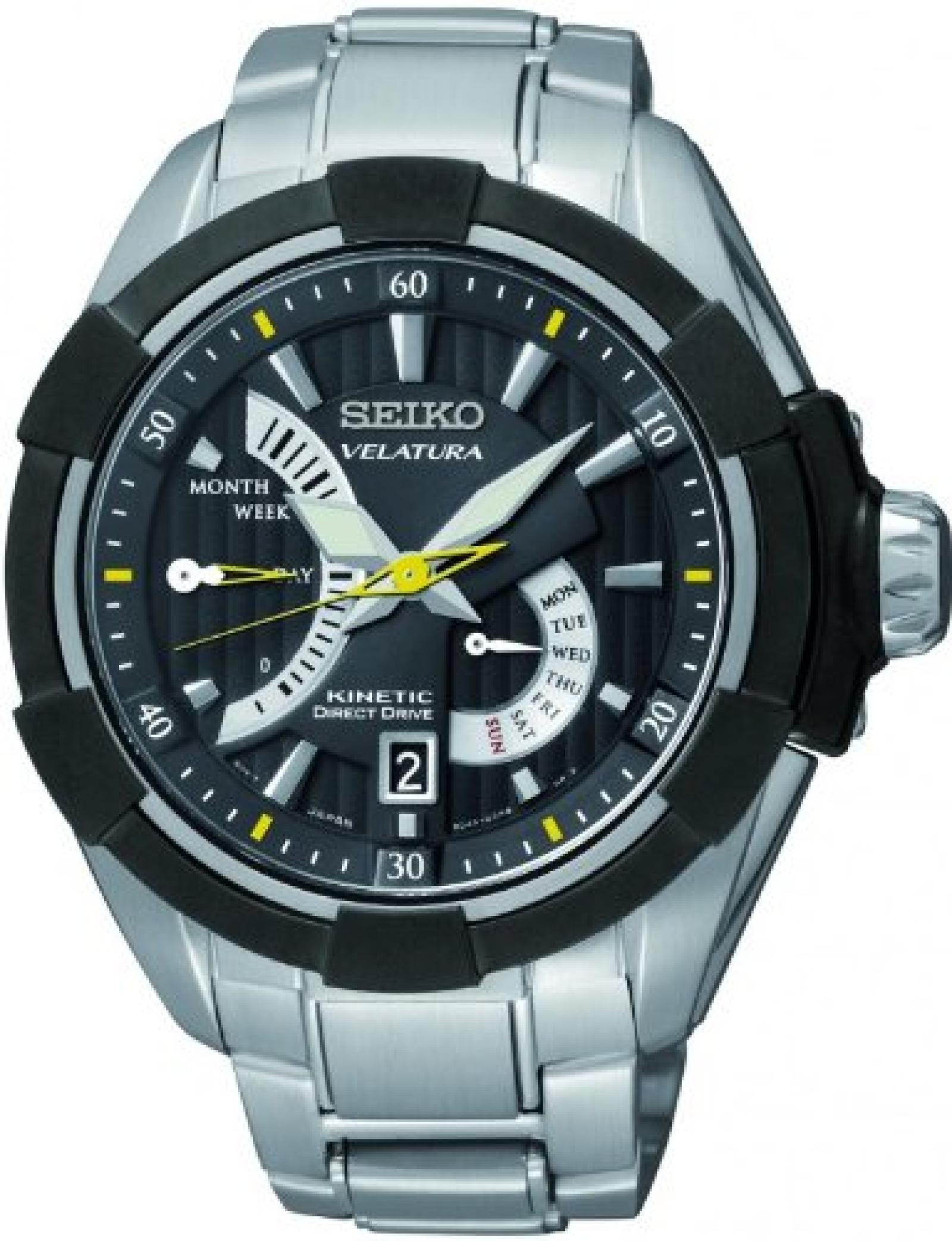 Seiko Herren-Armbanduhr XL Analog Automatik Edelstahl SRH015P1