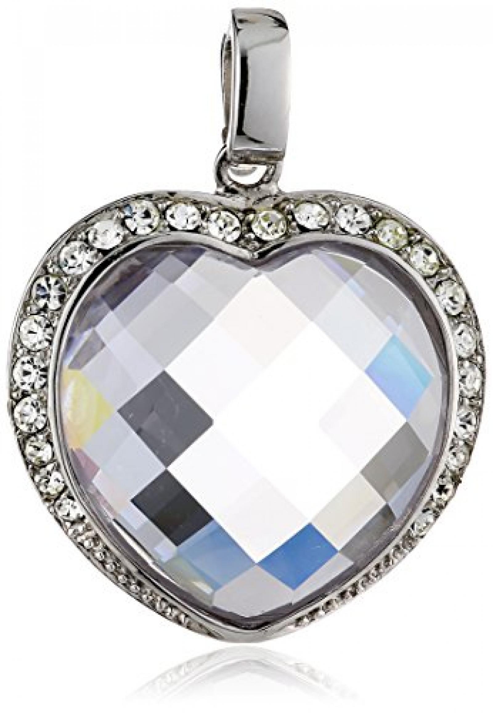 Celesta - Charm - Anhänger mit Clipverschluß aus 925er Sterling Silber und einen Herz Zirkonia und 42 Kristallen 360240833-1