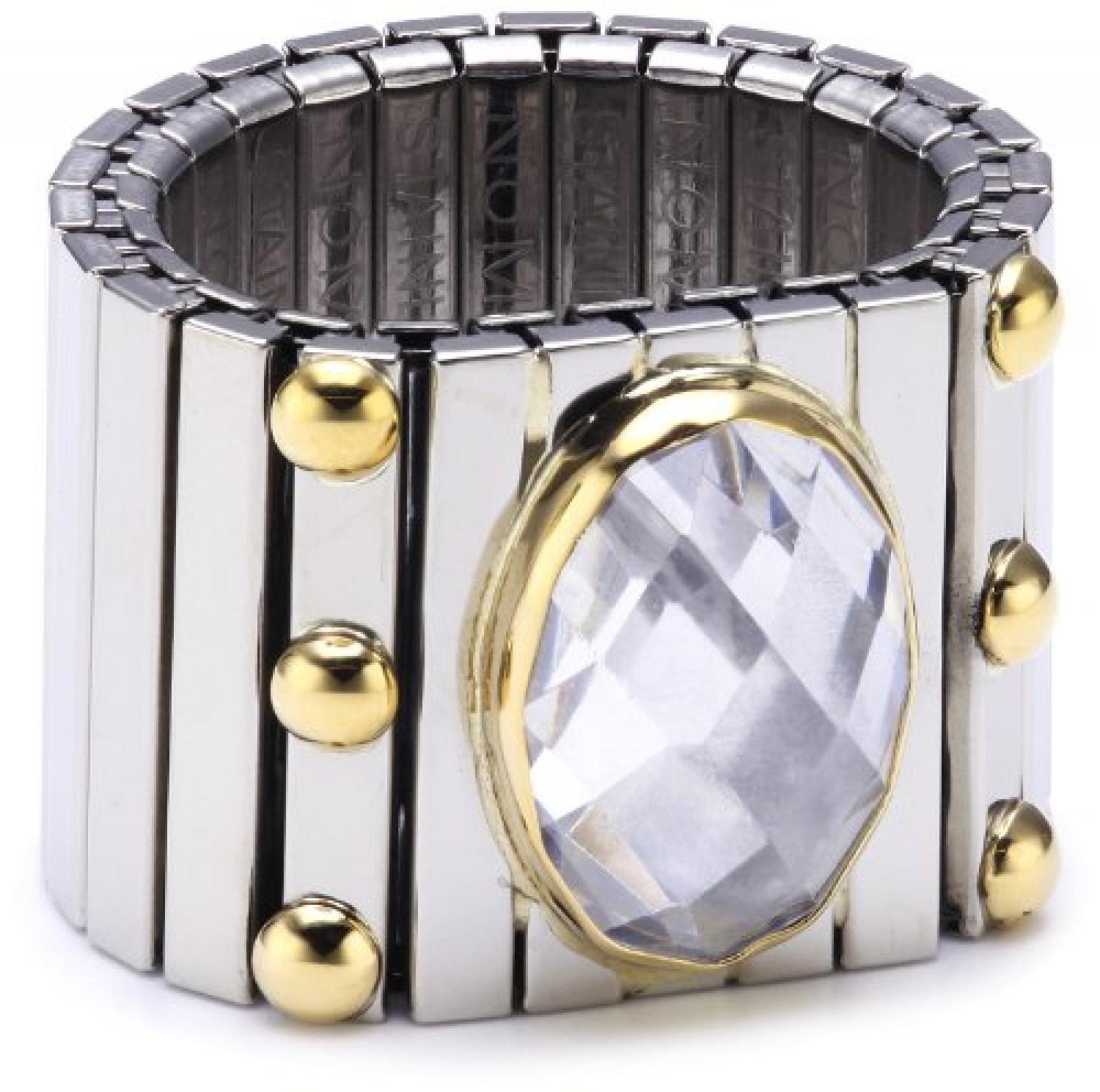 Nomination Damen-Ring Extra Groß Facettiert Zirkon Weiß Ring größe variabel 041541/010