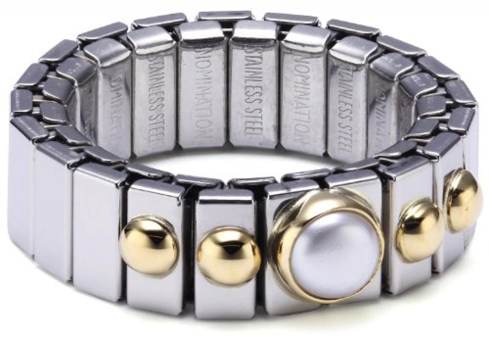 Nomination Damen-Ring Klein Mit 1 in Perle Weiß Ring größe variabel 040101/013