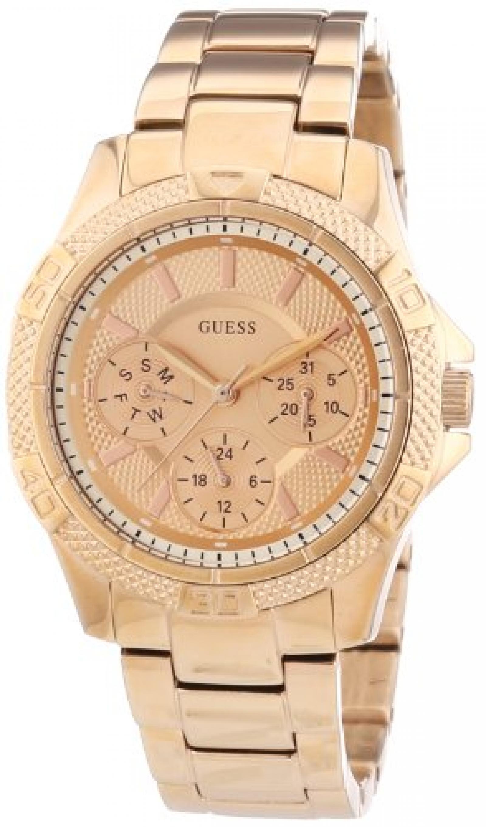 Guess Damen-Armbanduhr XS Analog Quarz Edelstahl W0235L3