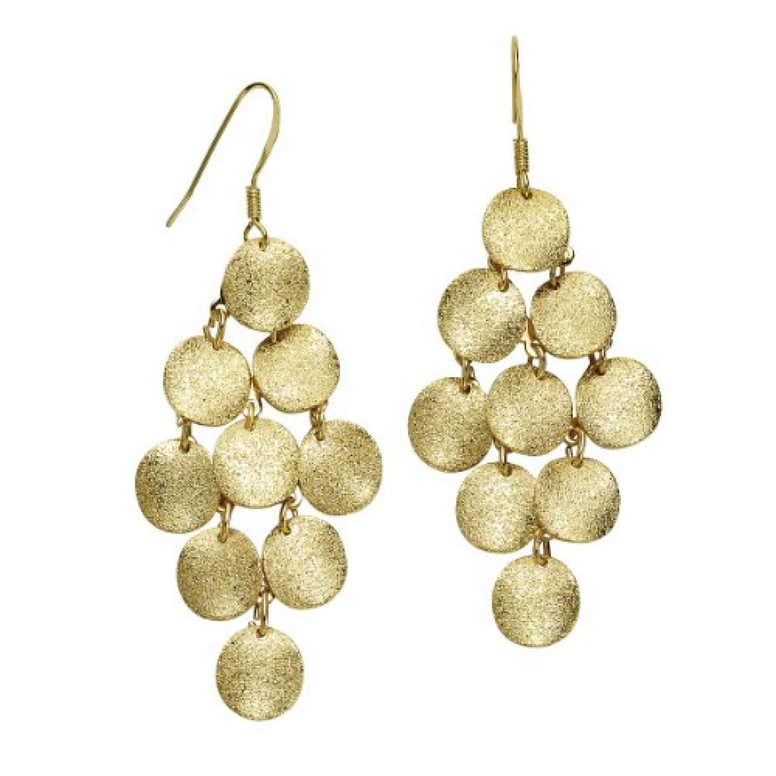 ZEEme Damen-Ohrhänger Metall gold 97 mm 374030018