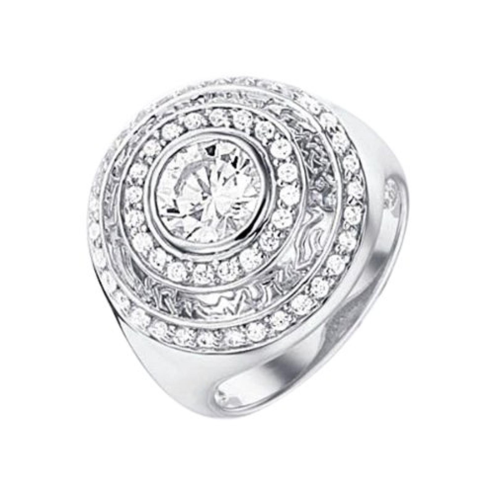 Celesta Damen-Ring 925 Sterling Silber Zirkonia weiß Gr. 60 (19.1) 360271520L-019
