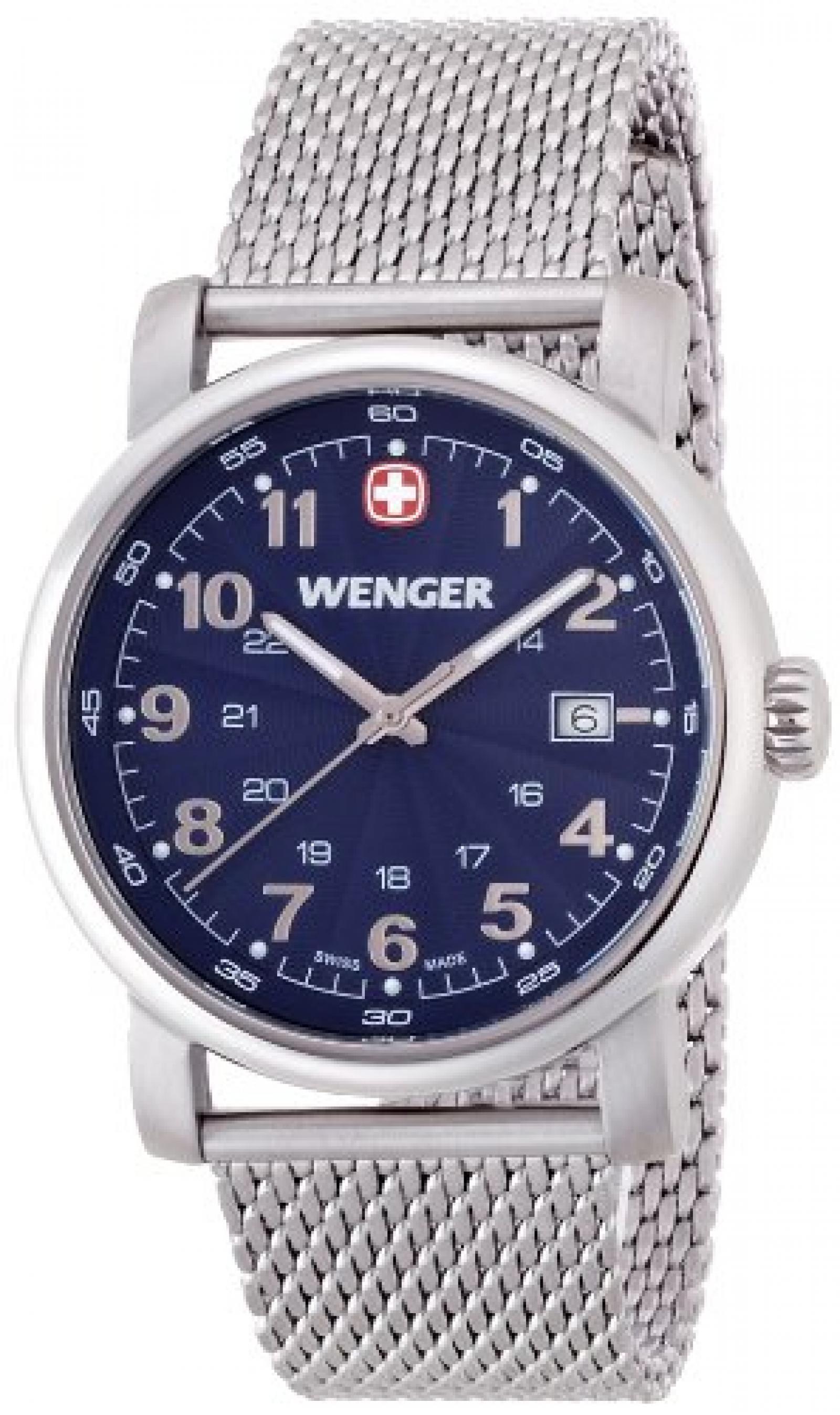 Wenger Herren-Armbanduhr XL Urban Classic Analog Quarz Edelstahl 01.1041.107