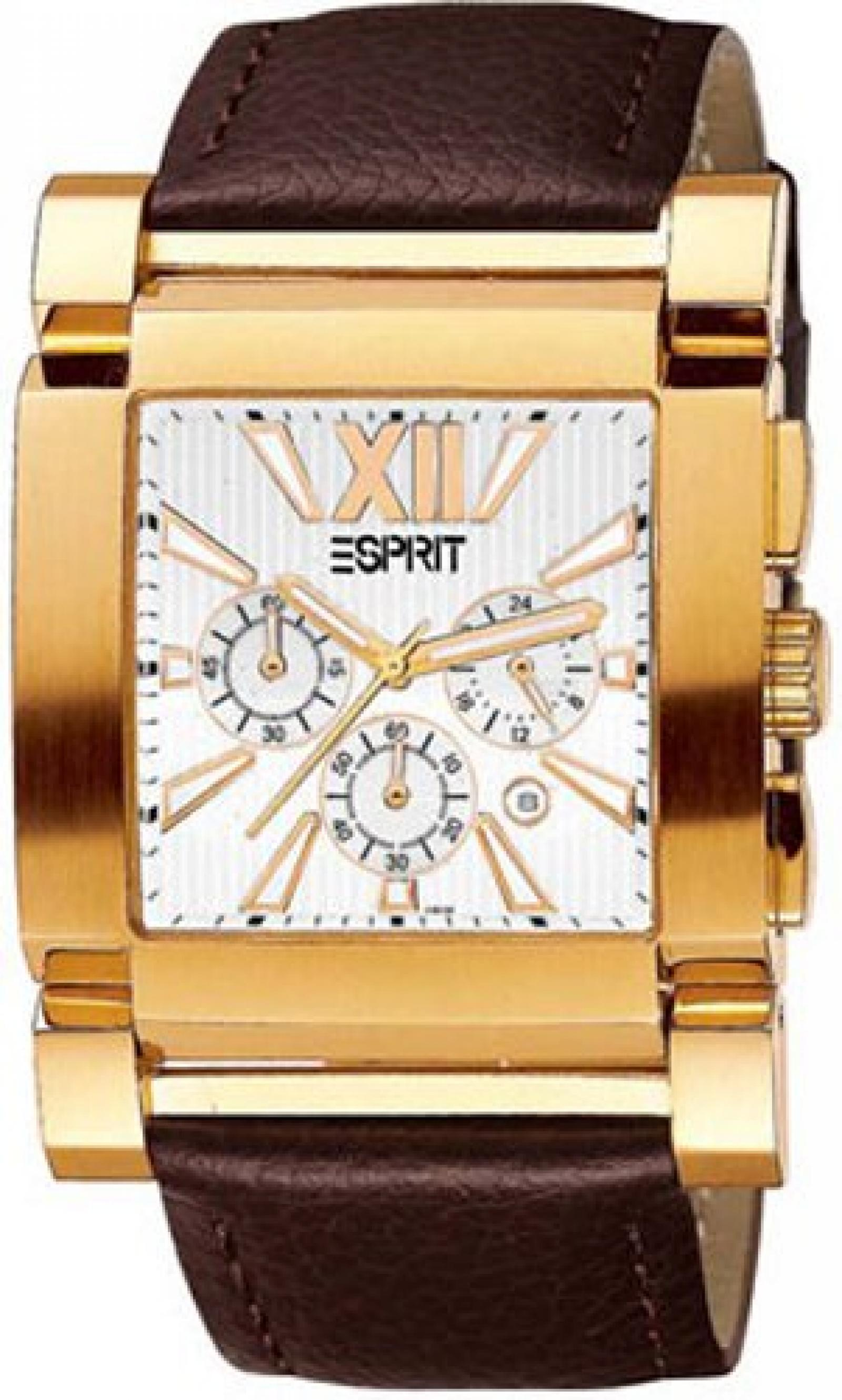 Esprit Herrenarmbanduhr GALAXY GOLD-BROWN ES101011005