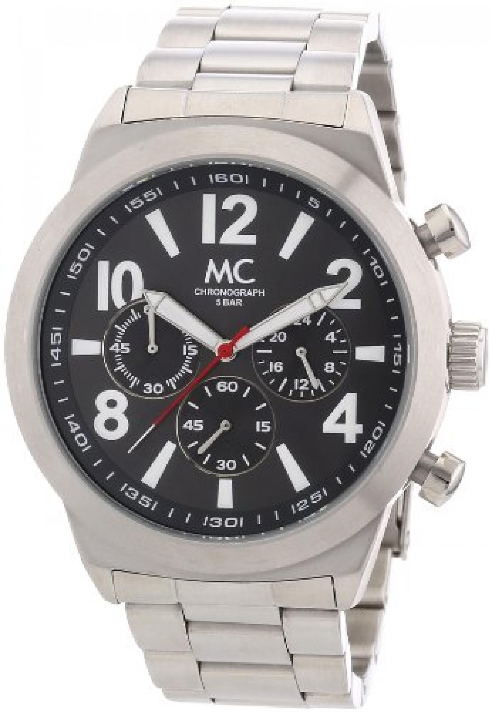 MC Timetrend Herren-Armbanduhr Chronograph Quarz komplett Edelstahl 26309