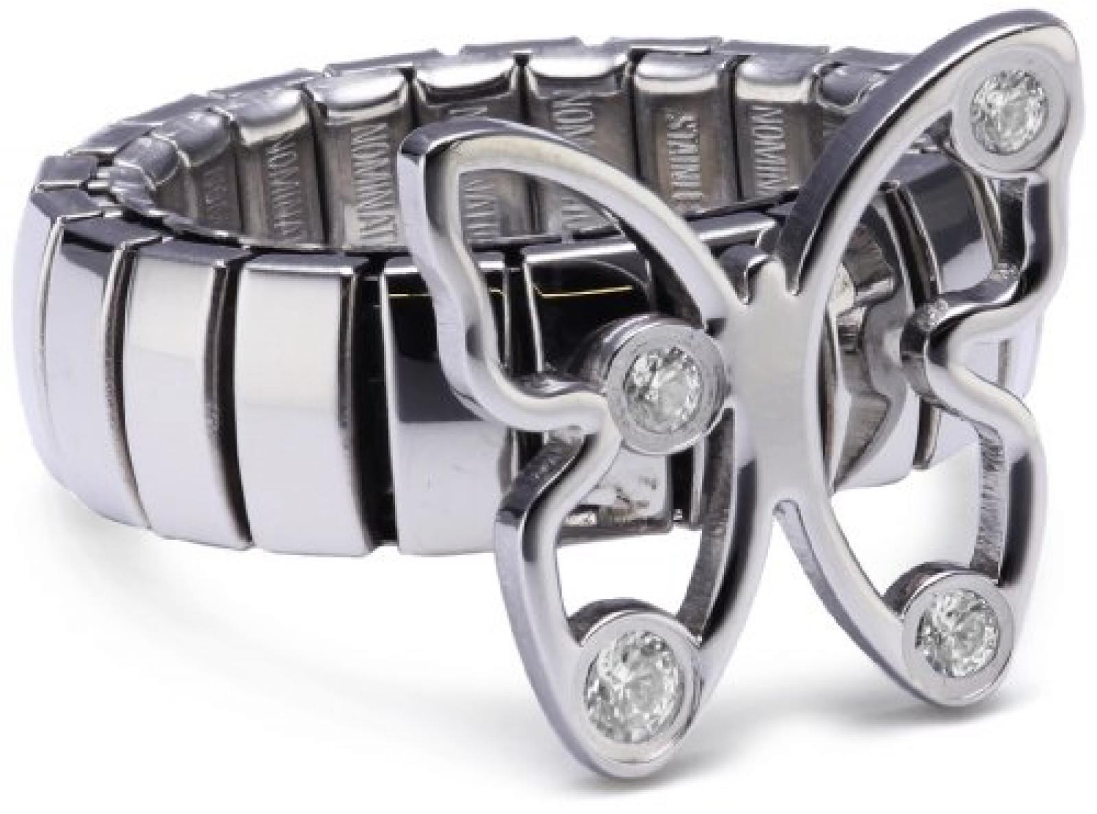 Nomination Damen-Ring Butterfly Mit Weiß Ring größe variabel 021343/001