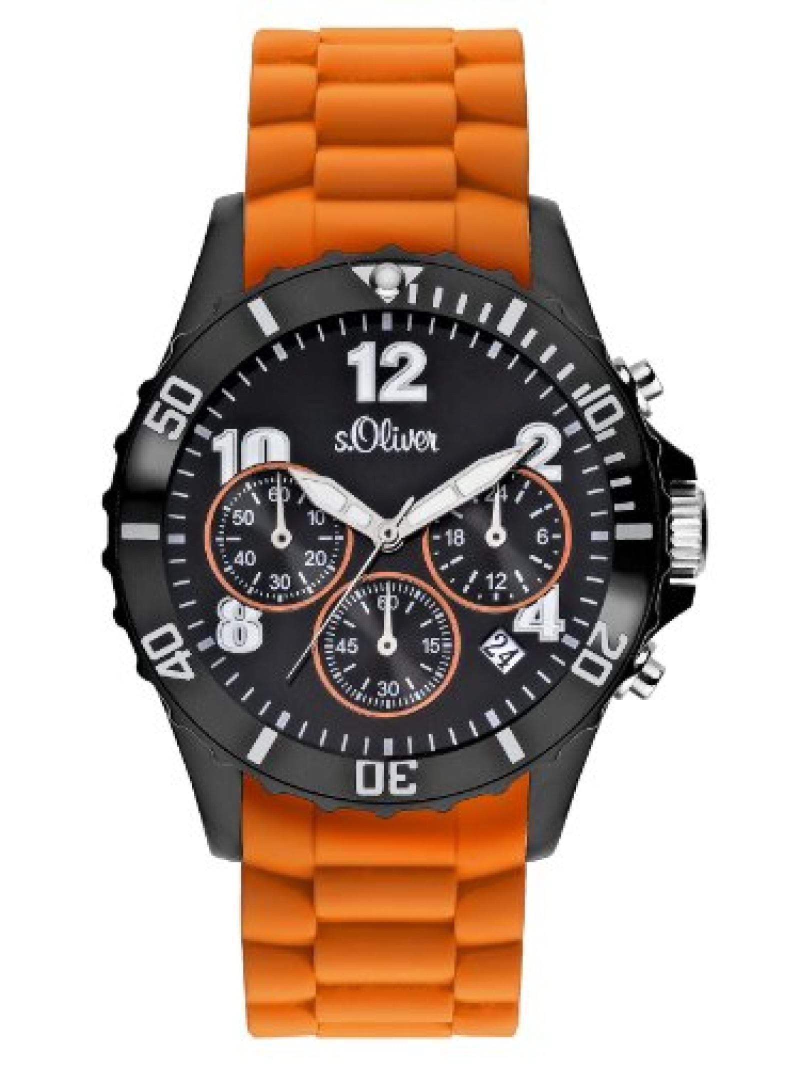 s.Oliver Unisex-Armbanduhr Big Size Chronograph Quarz SO-2326-PC