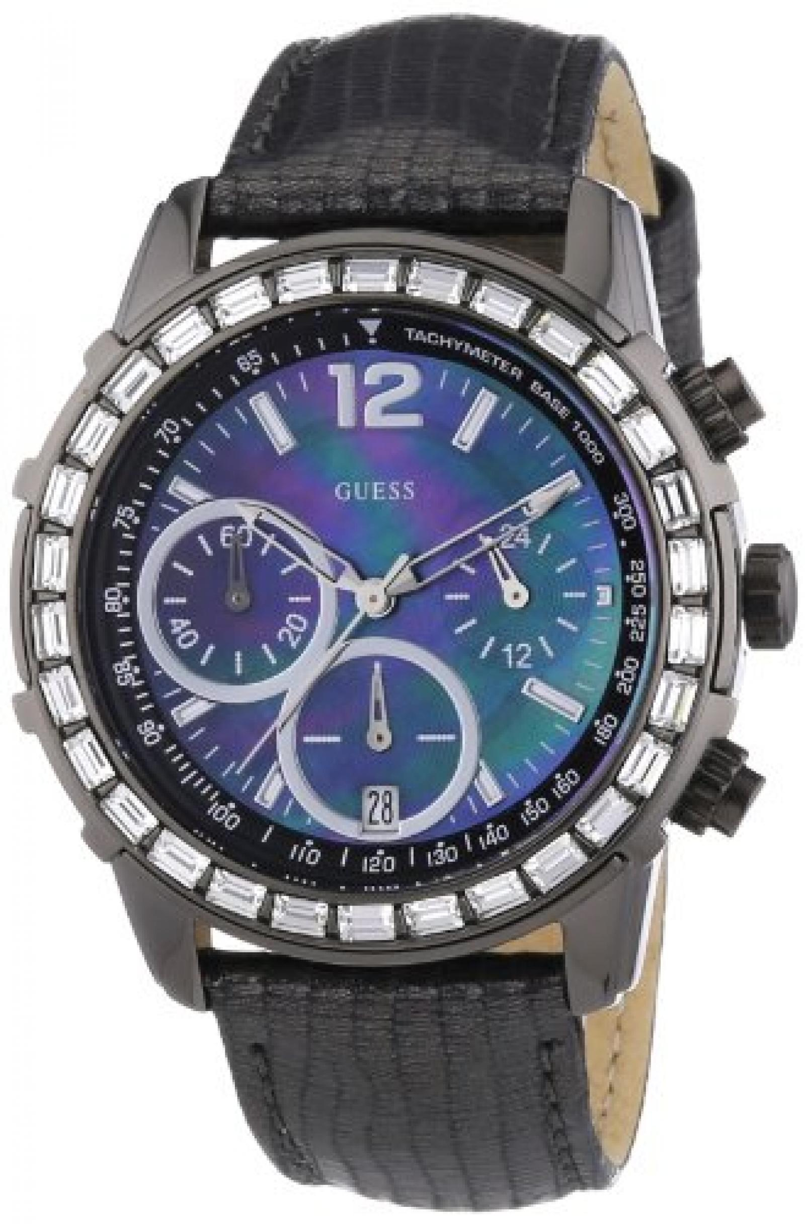 Guess Damen-Armbanduhr Lady B Analog Quarz Leder W0017L3