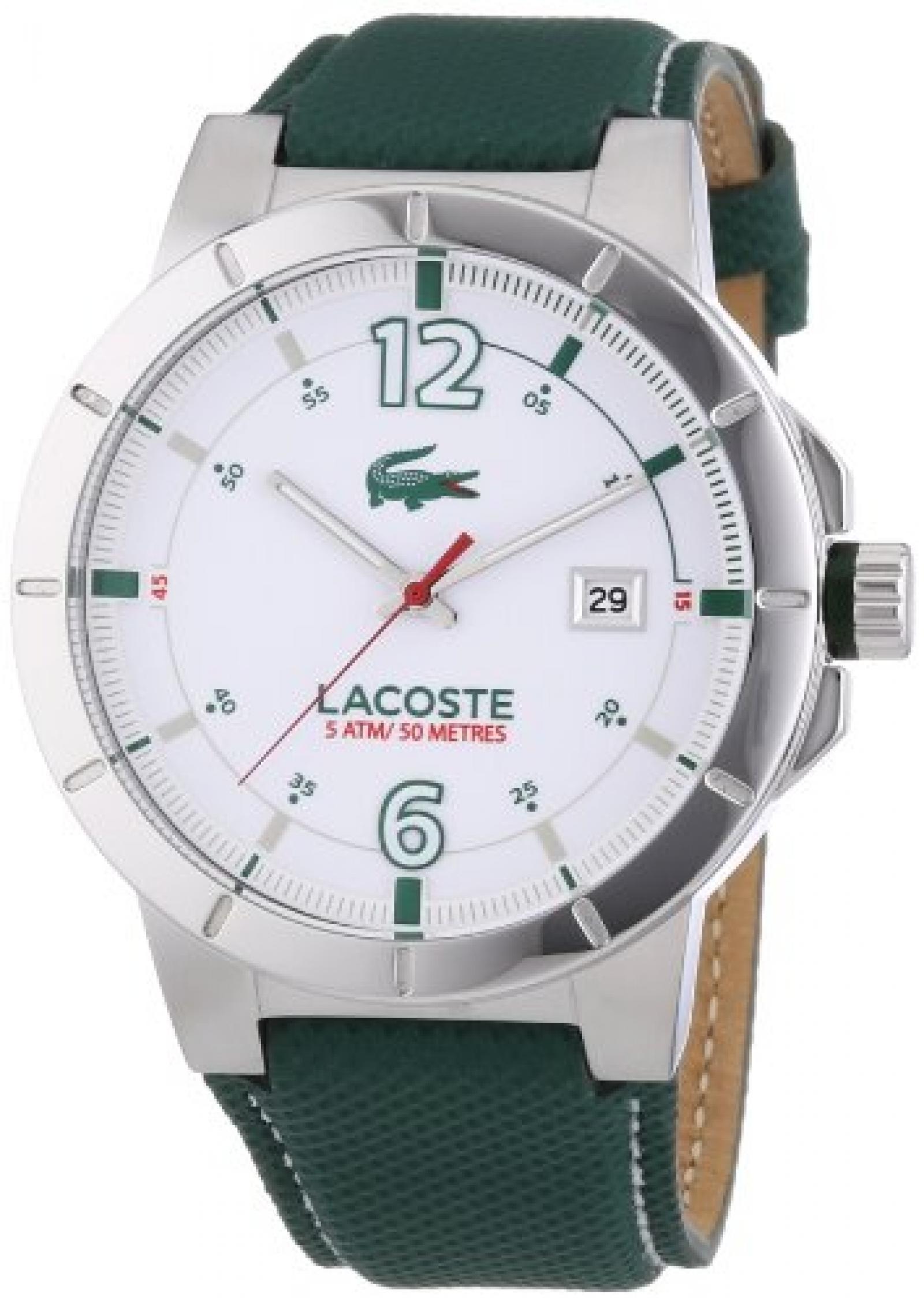 Lacoste Herren-Armbanduhr XL Darwin Analog Quarz Leder 2010726