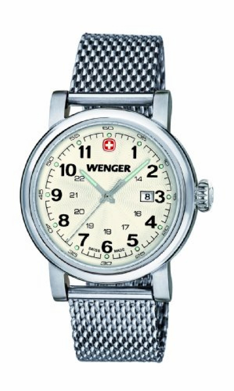 Wenger Damen-Armbanduhr XS Urban Classic Analog Quarz Edelstahl 01.1021.103