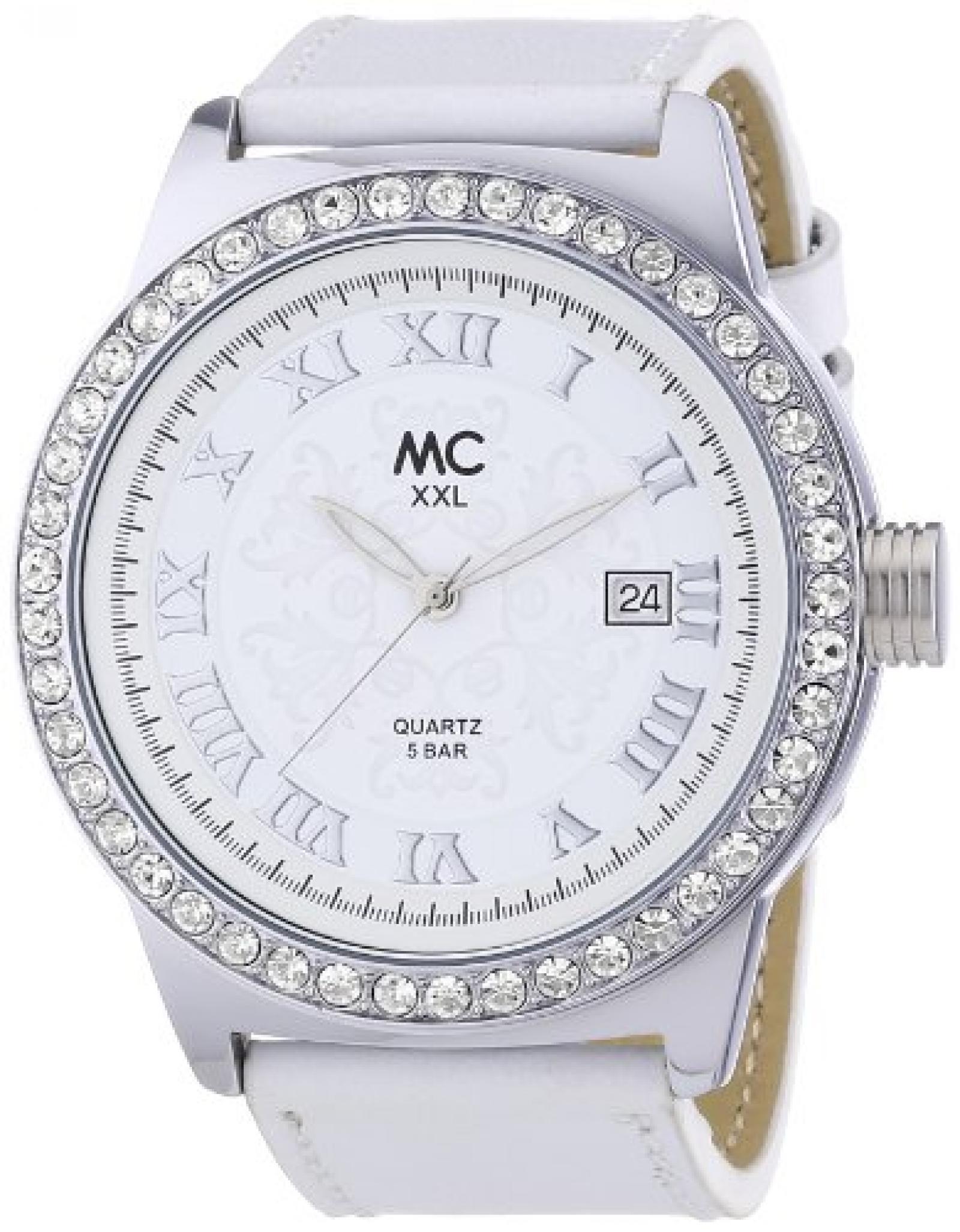 MC Timetrend Damen-Armbanduhr XXL Analog Quarz Leder 26789