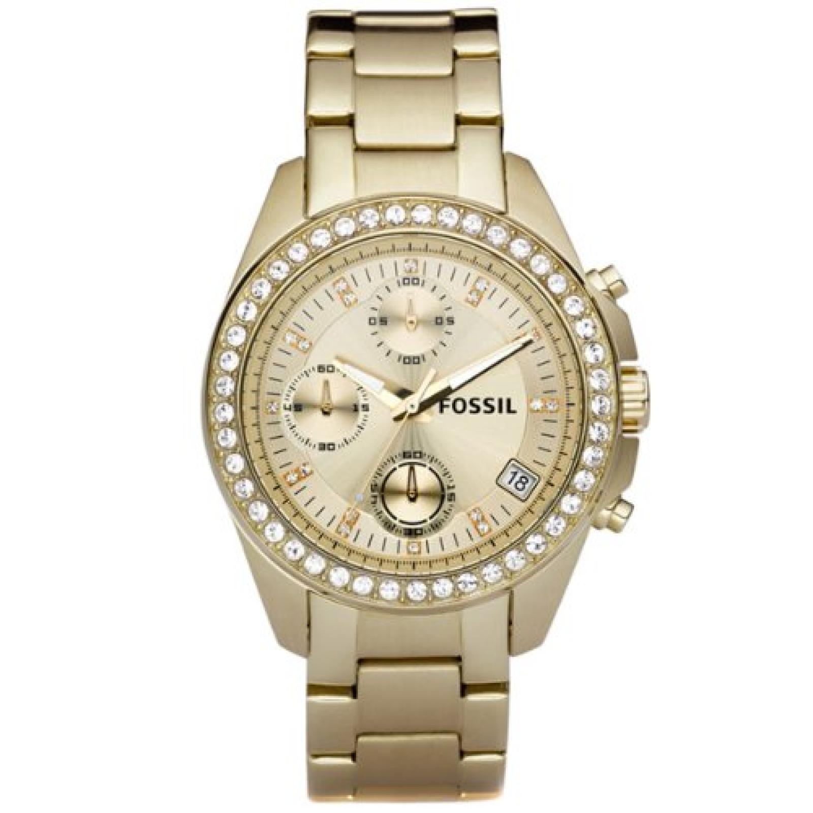 Fossil Damen-Chronograph Dress gold ES2683