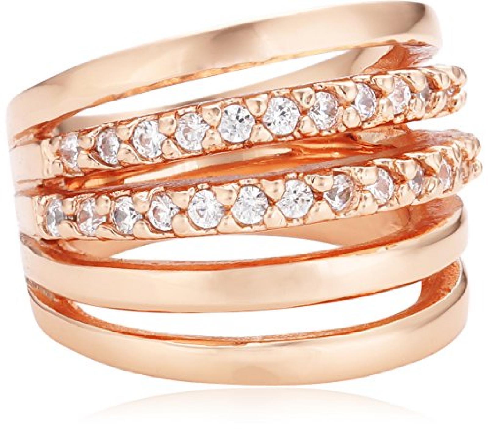 Mike Ellis New York Damen-Ring Edelstahl Zirkonia weiß Gr.56 (17.8) D1519C/8