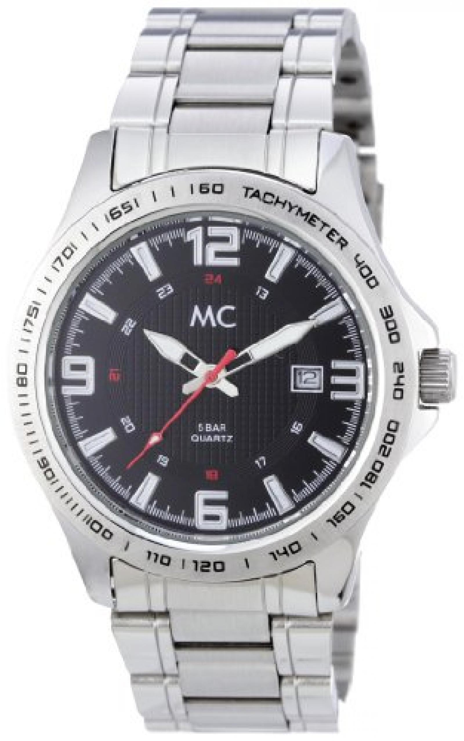 MC Timetrend Herren-Armbanduhr Analog Quarz komplett Edelstahl 26635