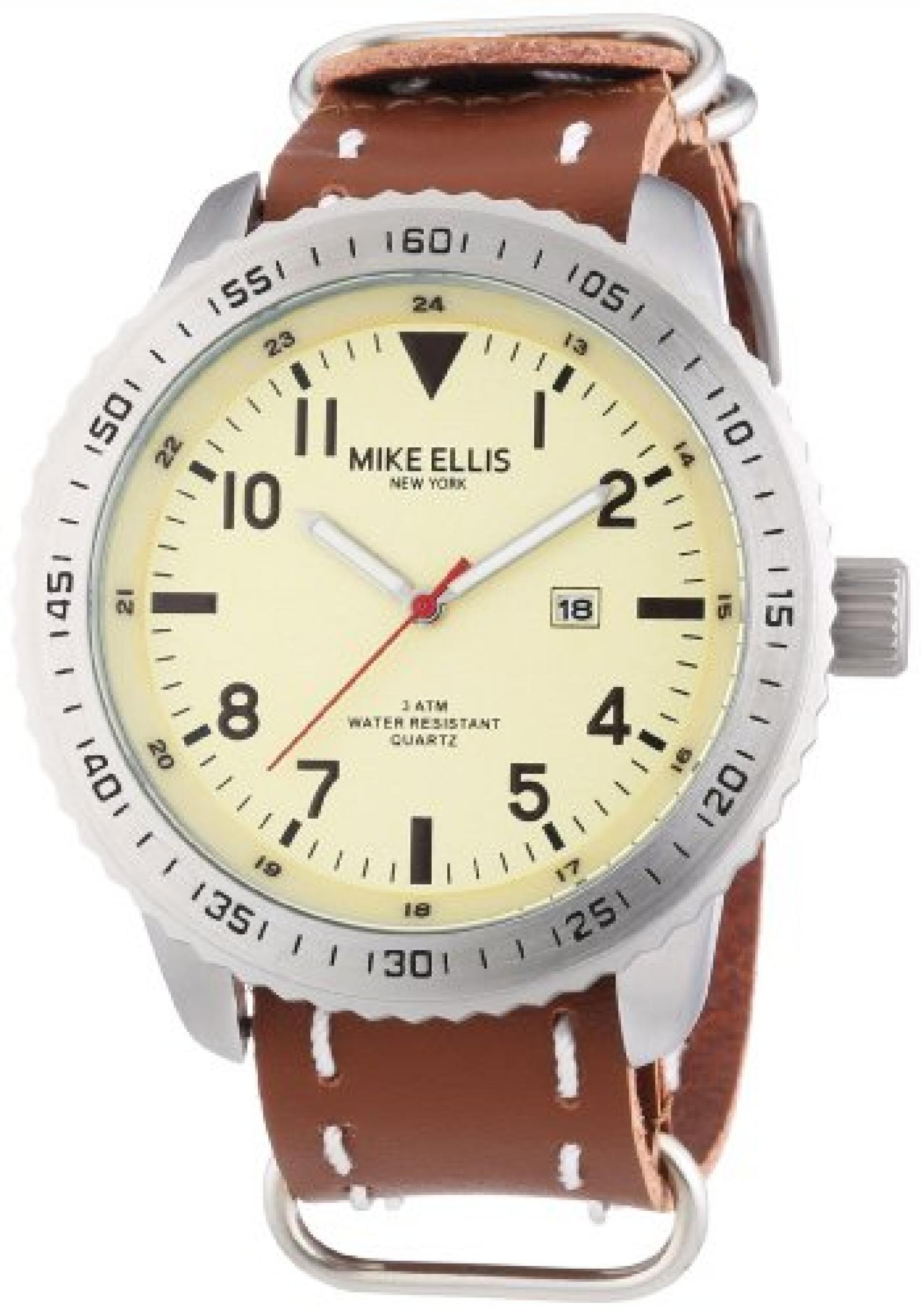 Mike Ellis New York Herren-Armbanduhr XL Analog Quarz 17986B/1