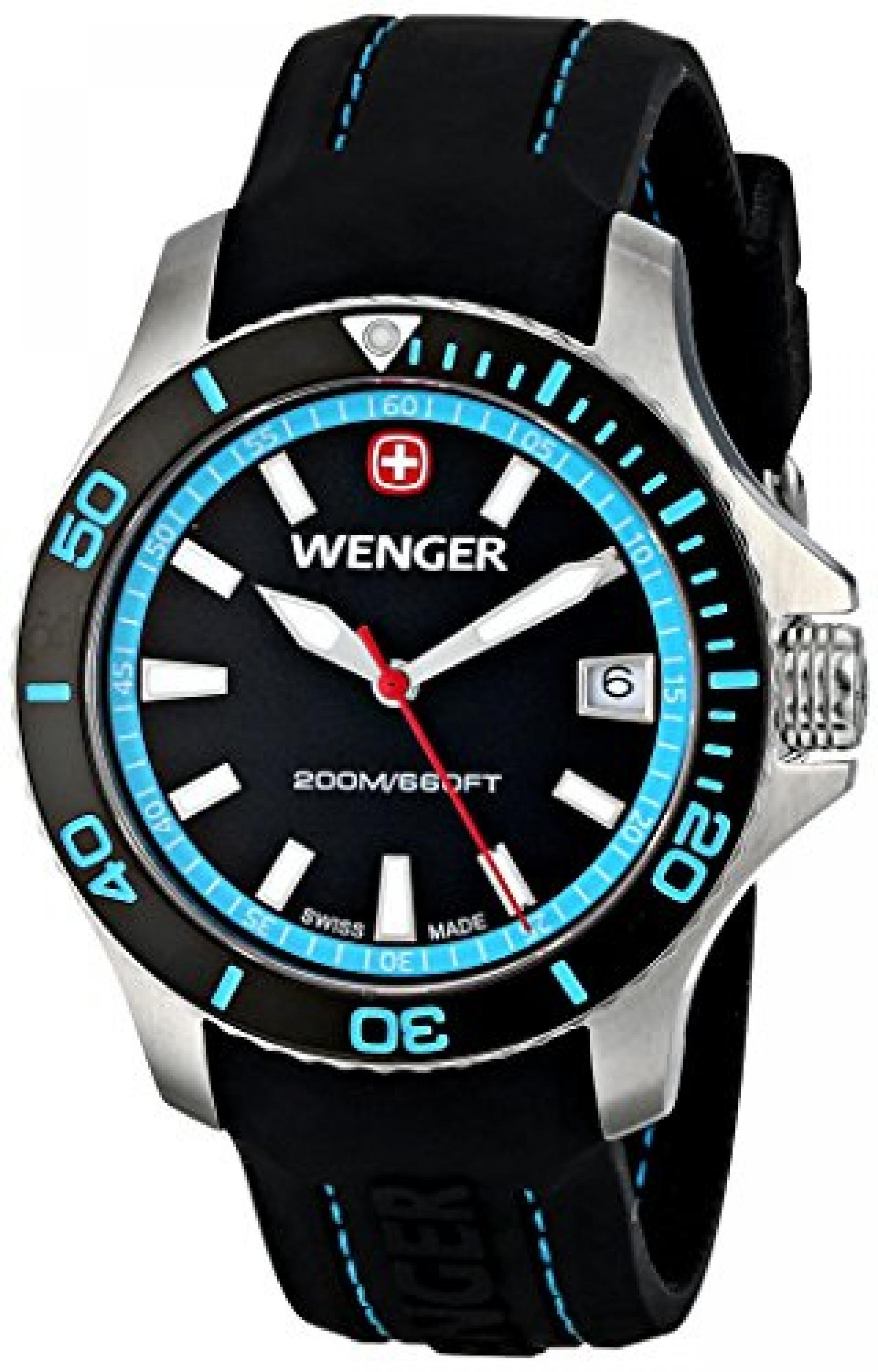 Wenger Damen-Armbanduhr SEAFORCE Analog Quarz Kautschuk 01.0621.105