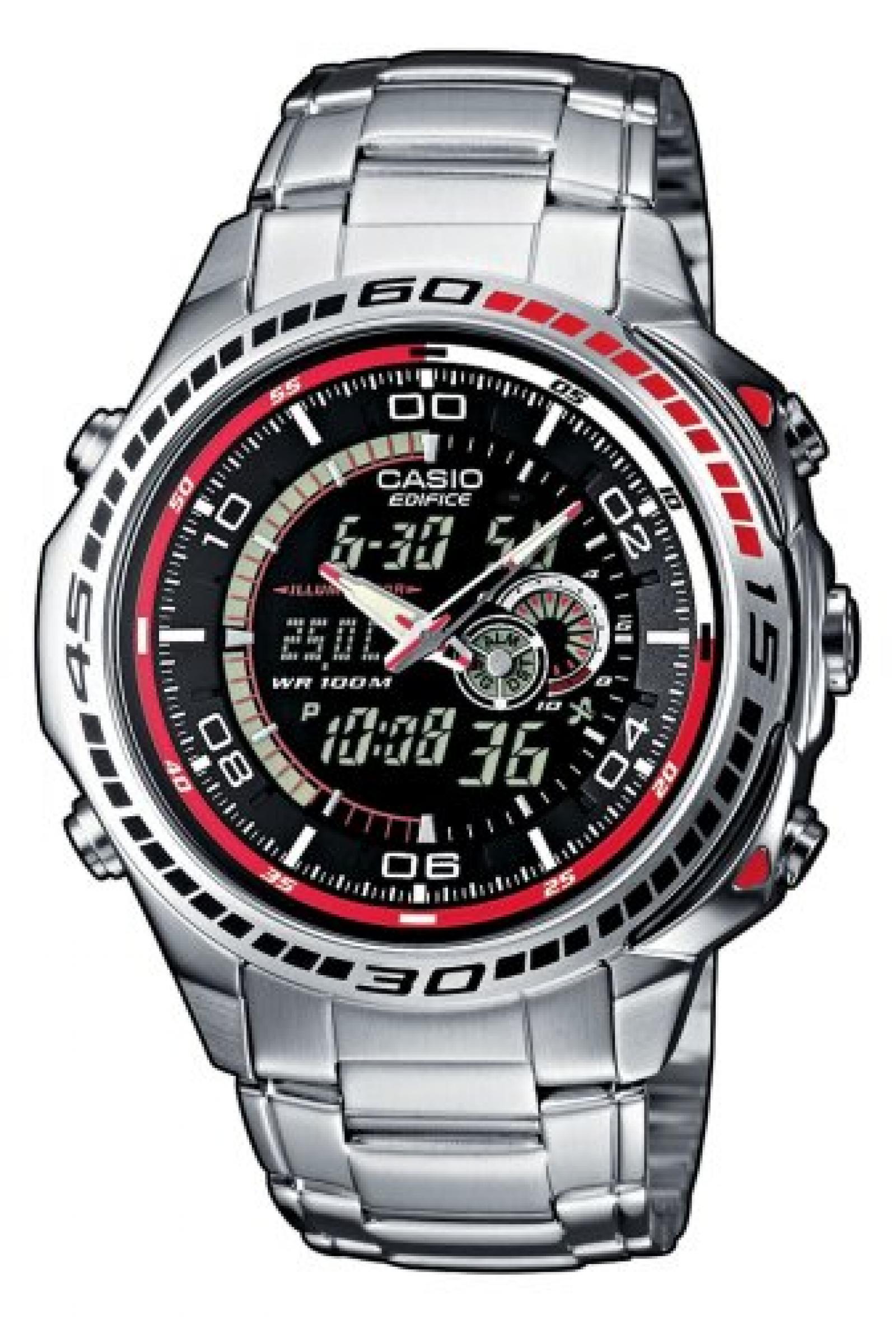 Casio Edifice Herren-Armbanduhr Analog / Digital Quarz EFA-121D-1AVEF