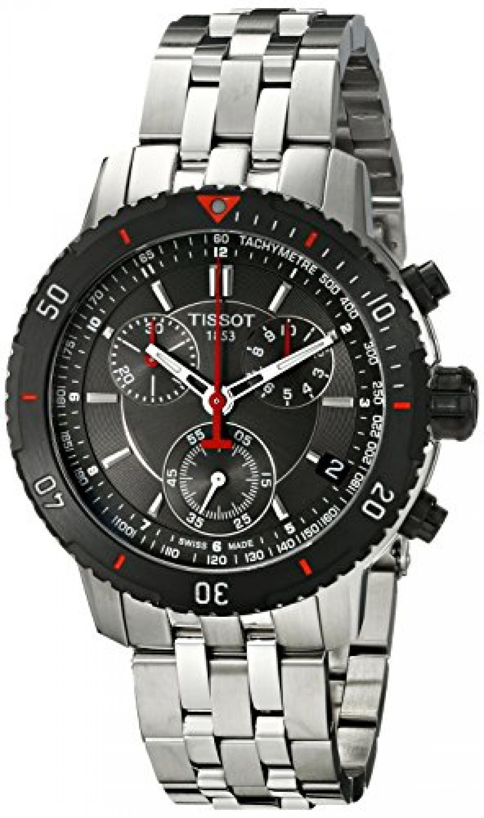 TISSOT PRS 200 MENS STAINLESS STEEL CASE CHRONOGRAPH DATE UHR T0674172105100
