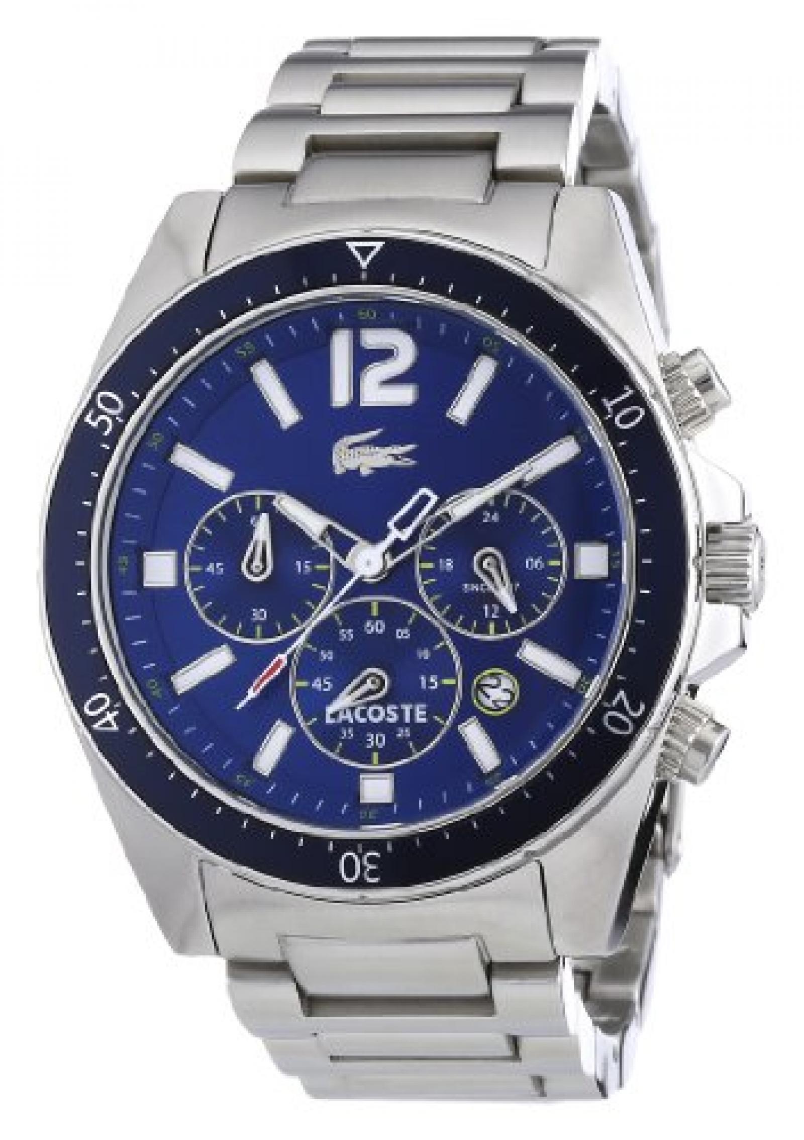 Lacoste Herren-Armbanduhr XL Analog Quarz Edelstahl 2010641