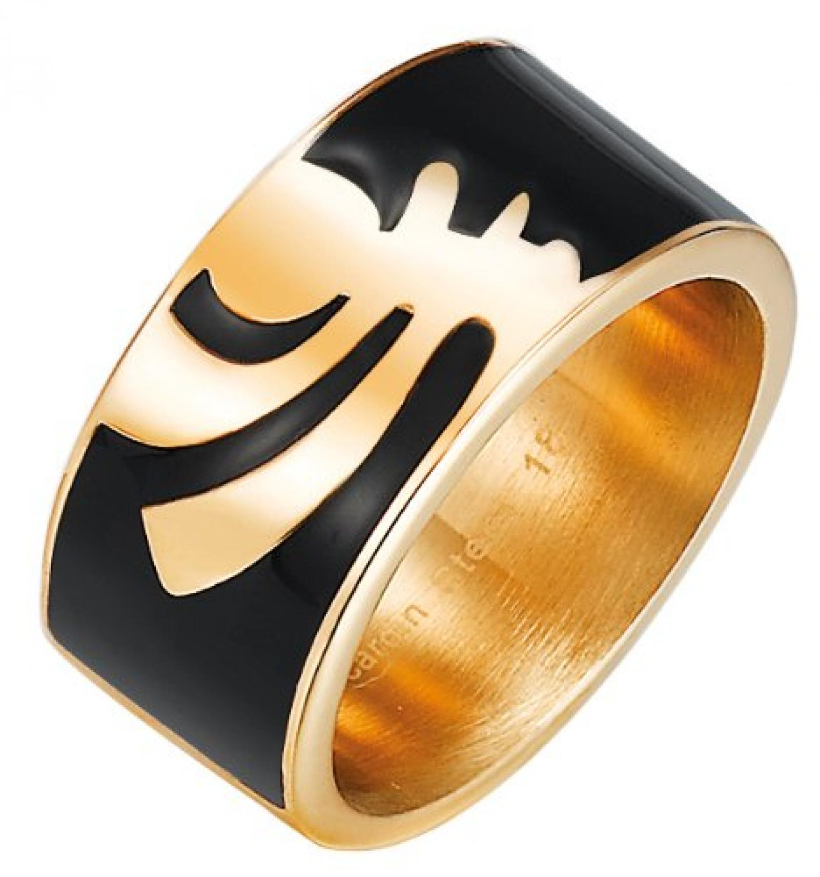 Pierre Cardin Unisex-Ring 925 Sterling Silber Edelstahl rhodiniert Kunststoff Totem  PCRG10008C