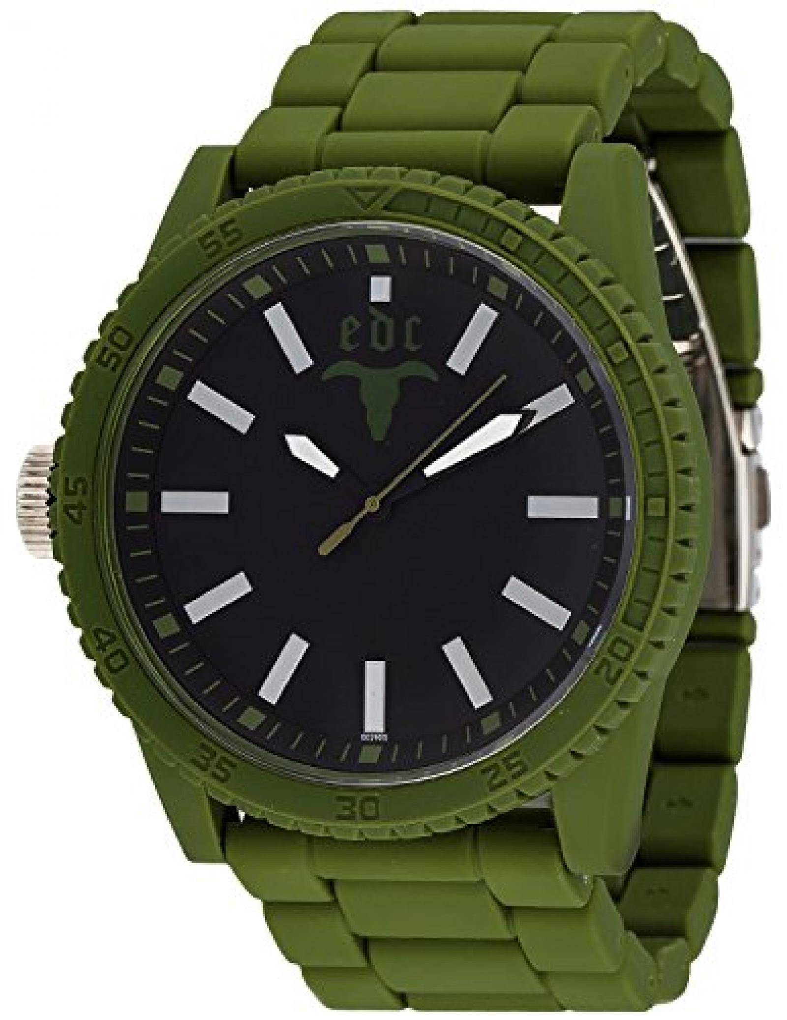 Edc Herren-Armbanduhr XL Military Star Analog Quarz Plastik EE100291006