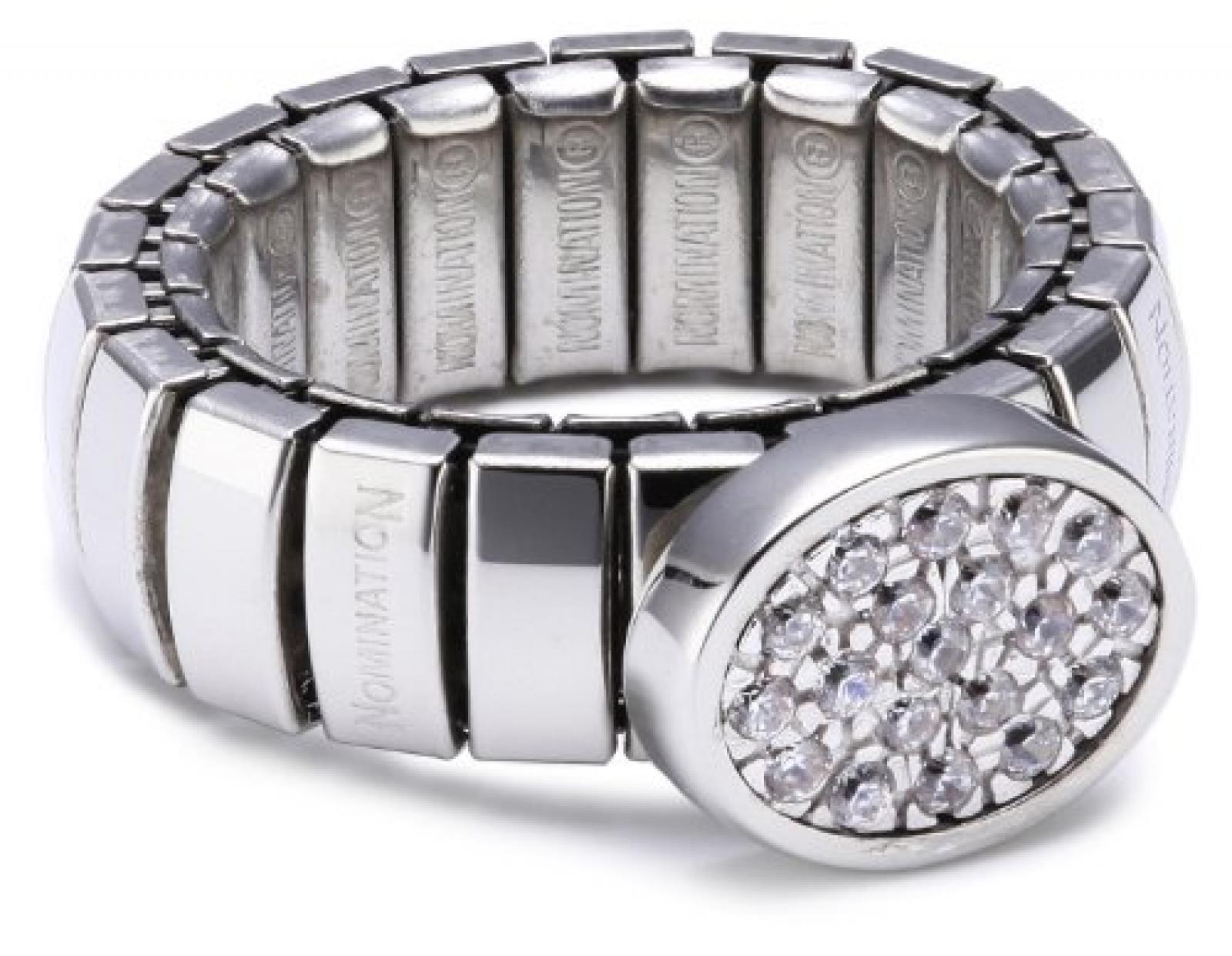 Nomination Damen-Ring Lotus Mit In 925 Silber Weiß Ring größe variabel 043100/001