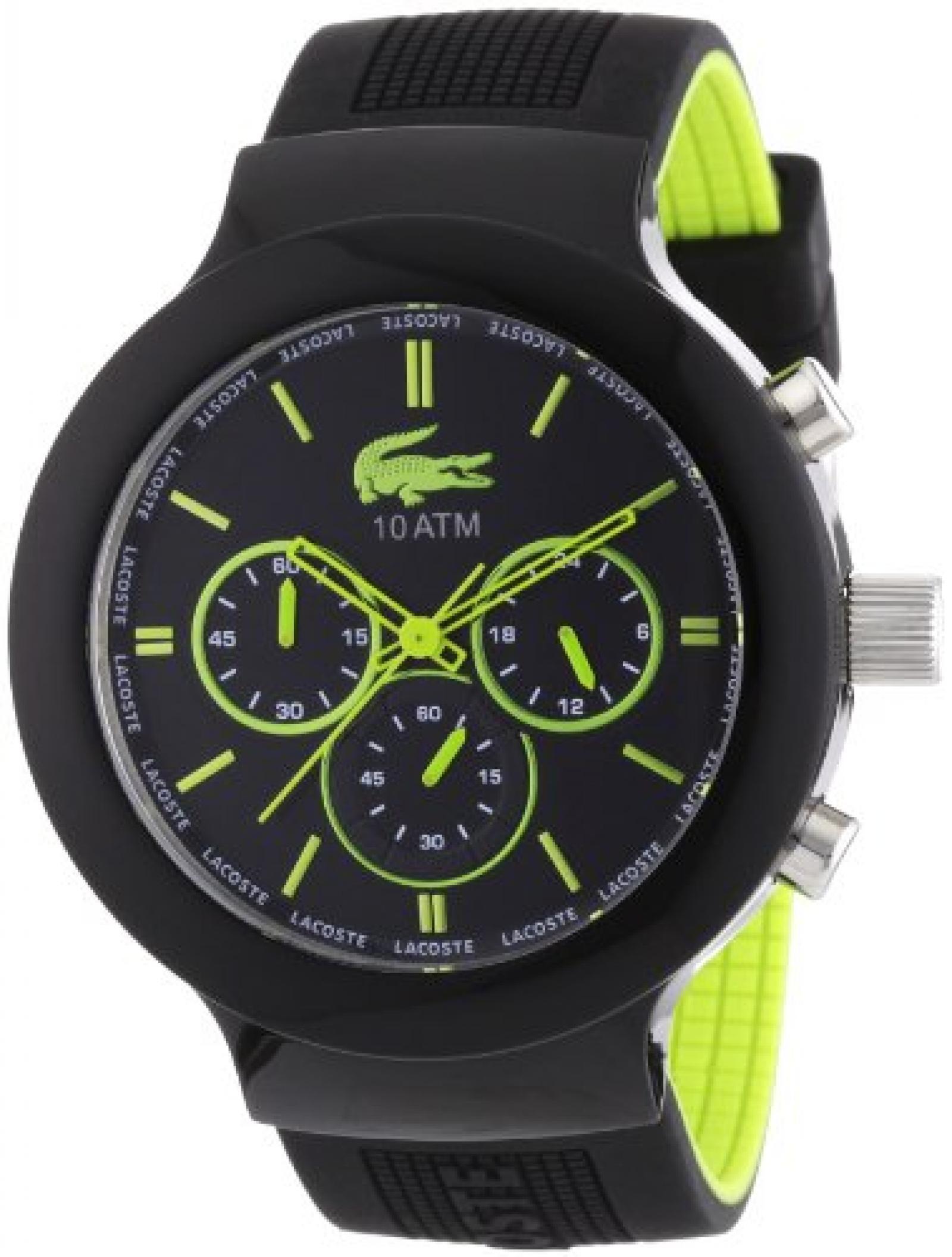 Lacoste Herren-Armbanduhr XL Analog Quarz Silikon 2010650