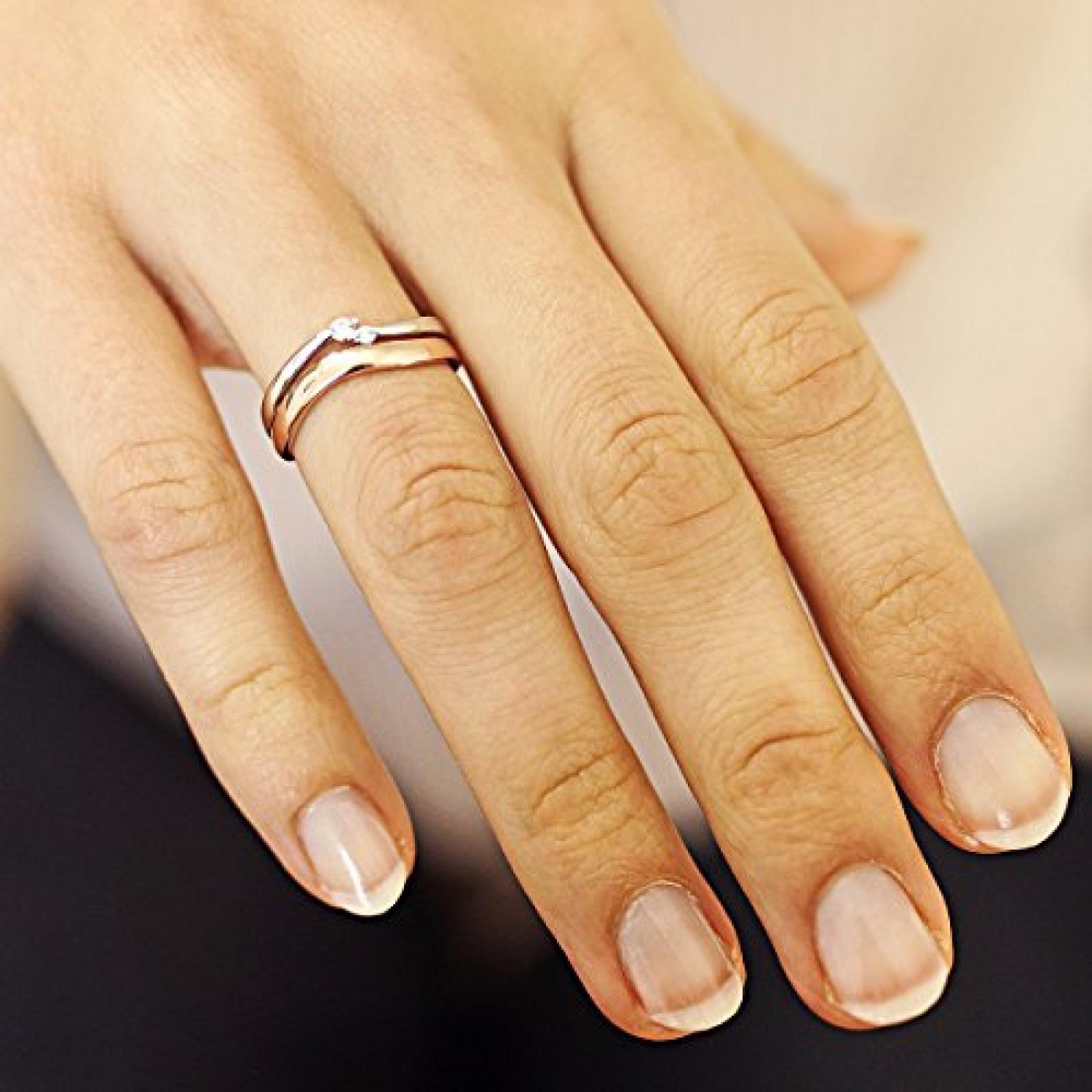 Goldmaid Damen-Ring Red Passion vergoldet 925 Sterlingsilber 2 Zirkonia Zi R5235S