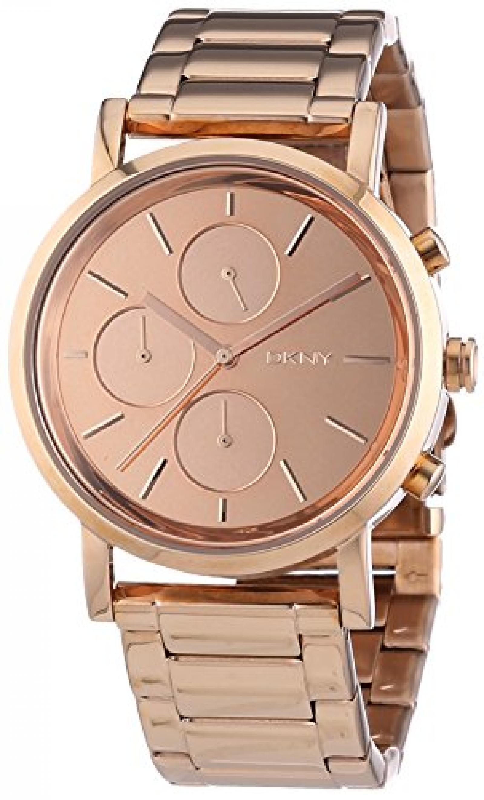 DKNY Damen-Armbanduhr Chronograph Quarz Edelstahl beschichtet NY8862