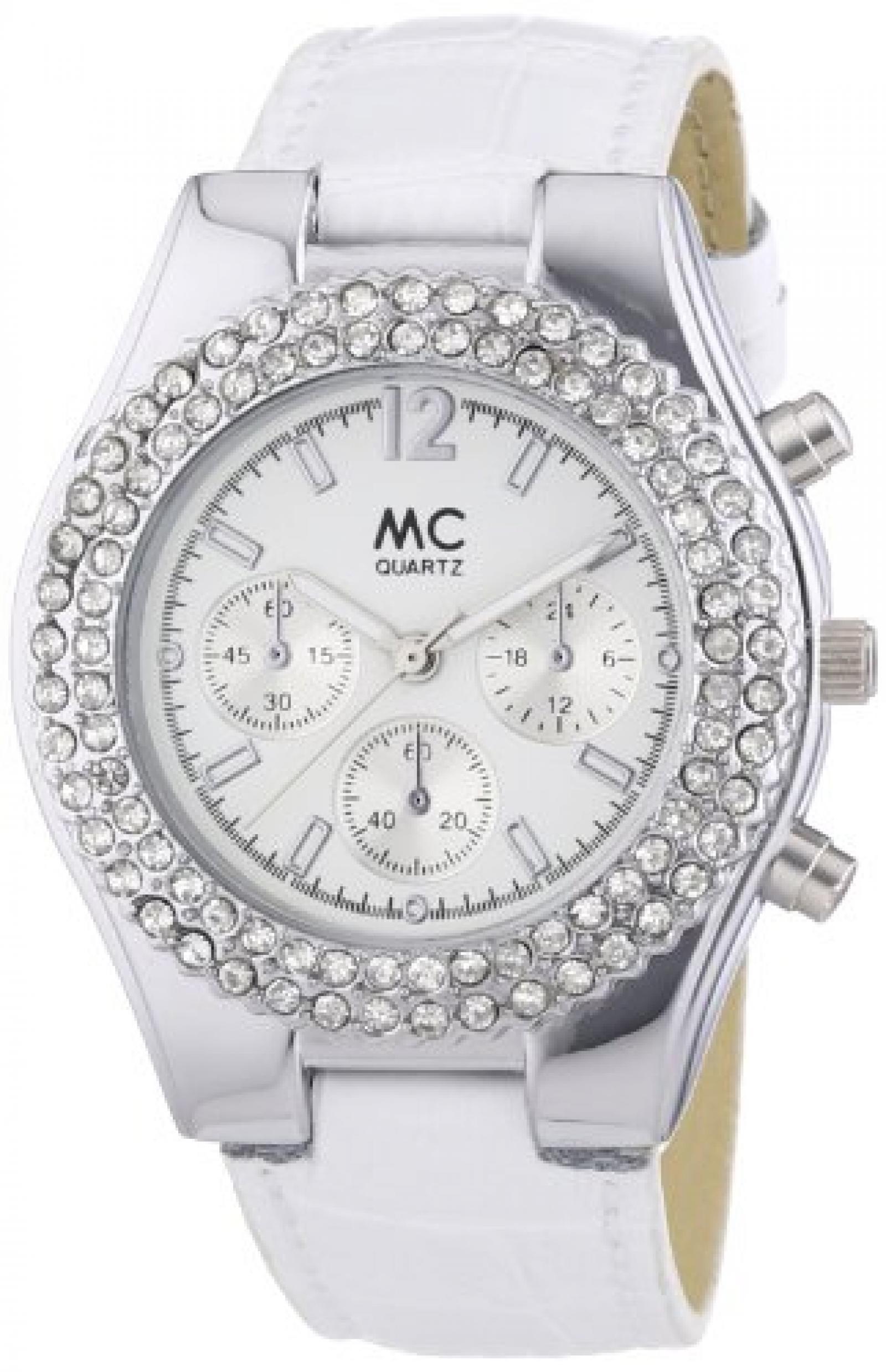 MC Timetrend Damen-Armbanduhr Chrono-Optik Analog Quarz Leder 50867