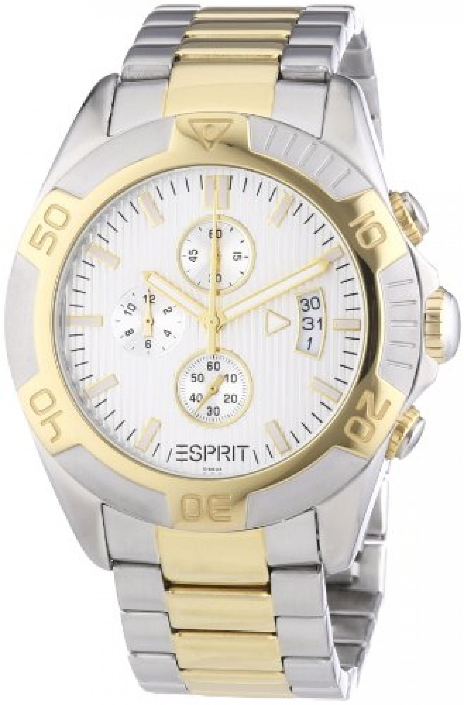 Esprit Herren-Armbanduhr XL Activity Chronograph Quarz Edelstahl ES101661003