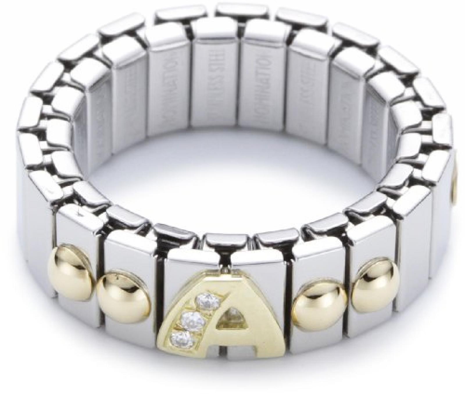 Nomination Damen-Ring Klein Mit Buchstaben A Ring größe variabel 040224/001