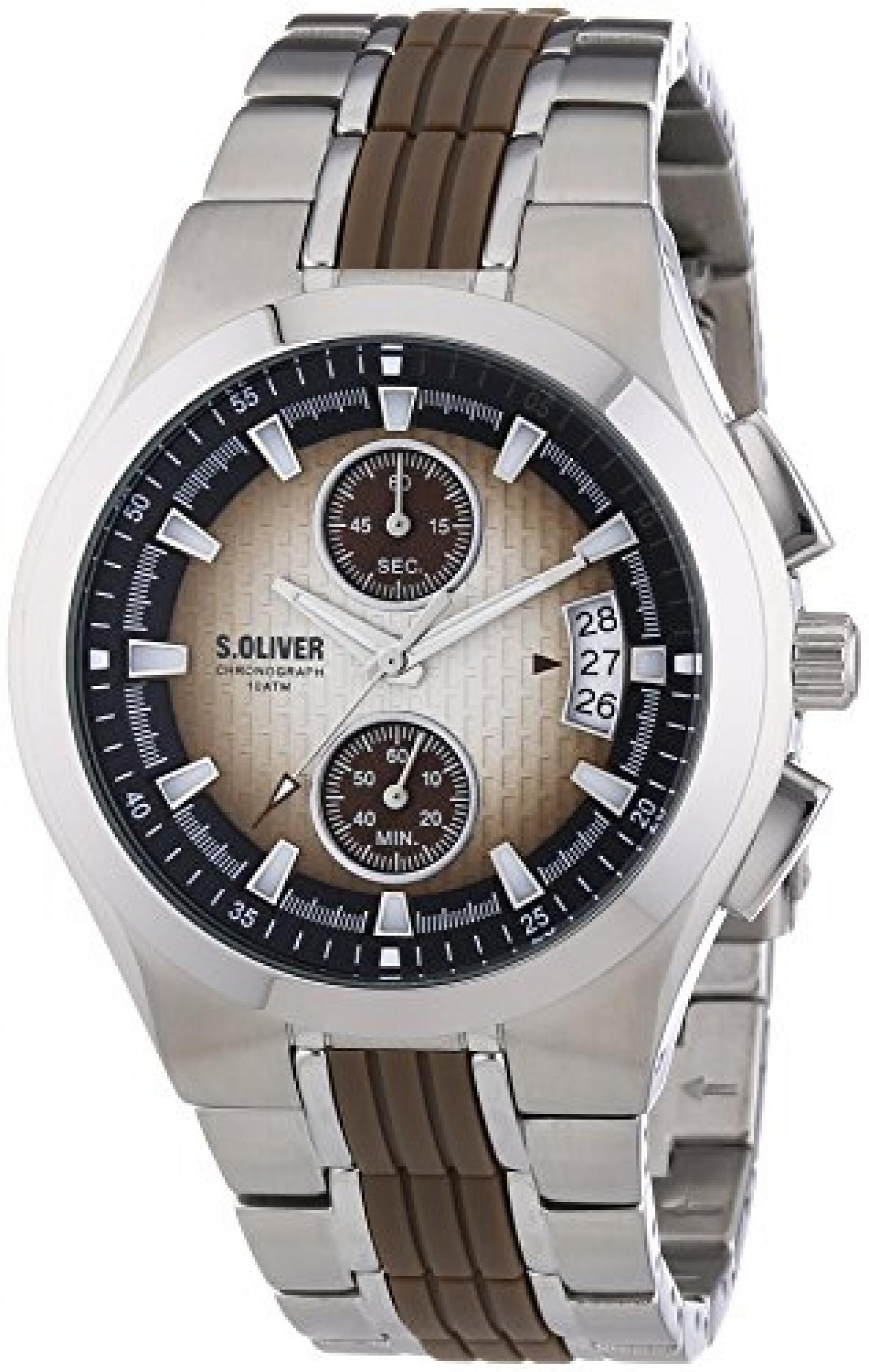 s.Oliver Herren-Armbanduhr Quarz Chronograph SO-2215-MC
