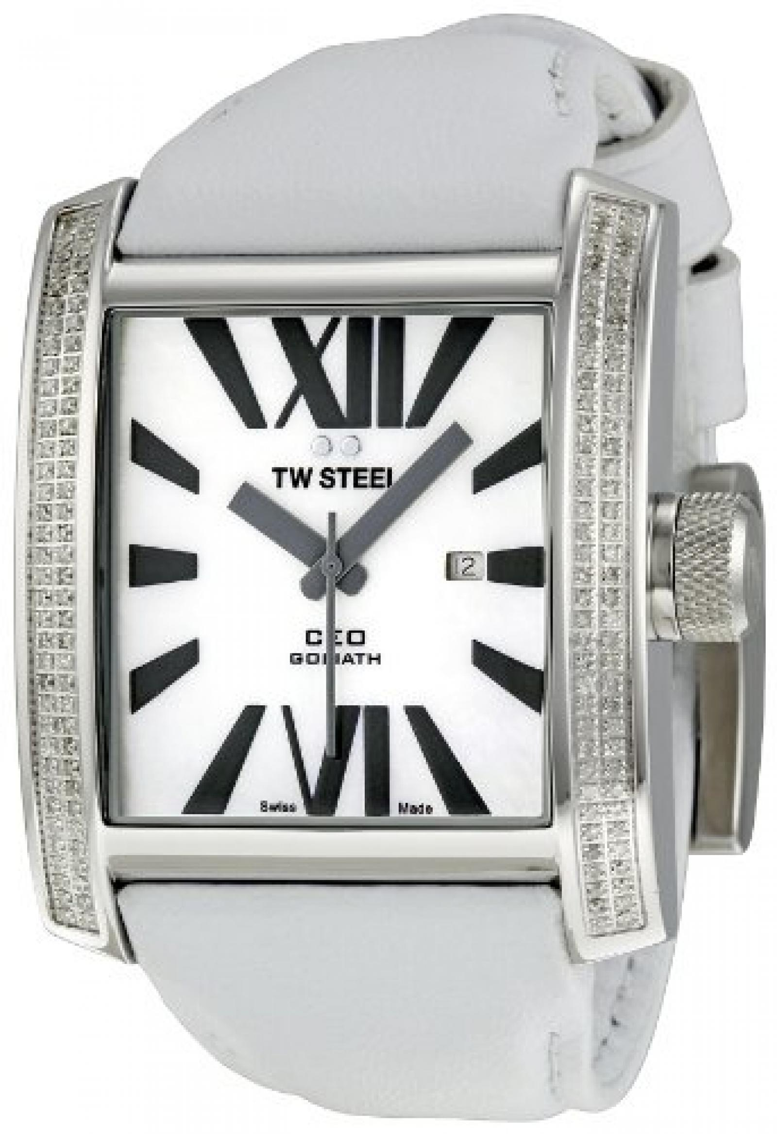 TW Steel Damen-Armbanduhr Ceo Goliath Analog Leder TWCE3015