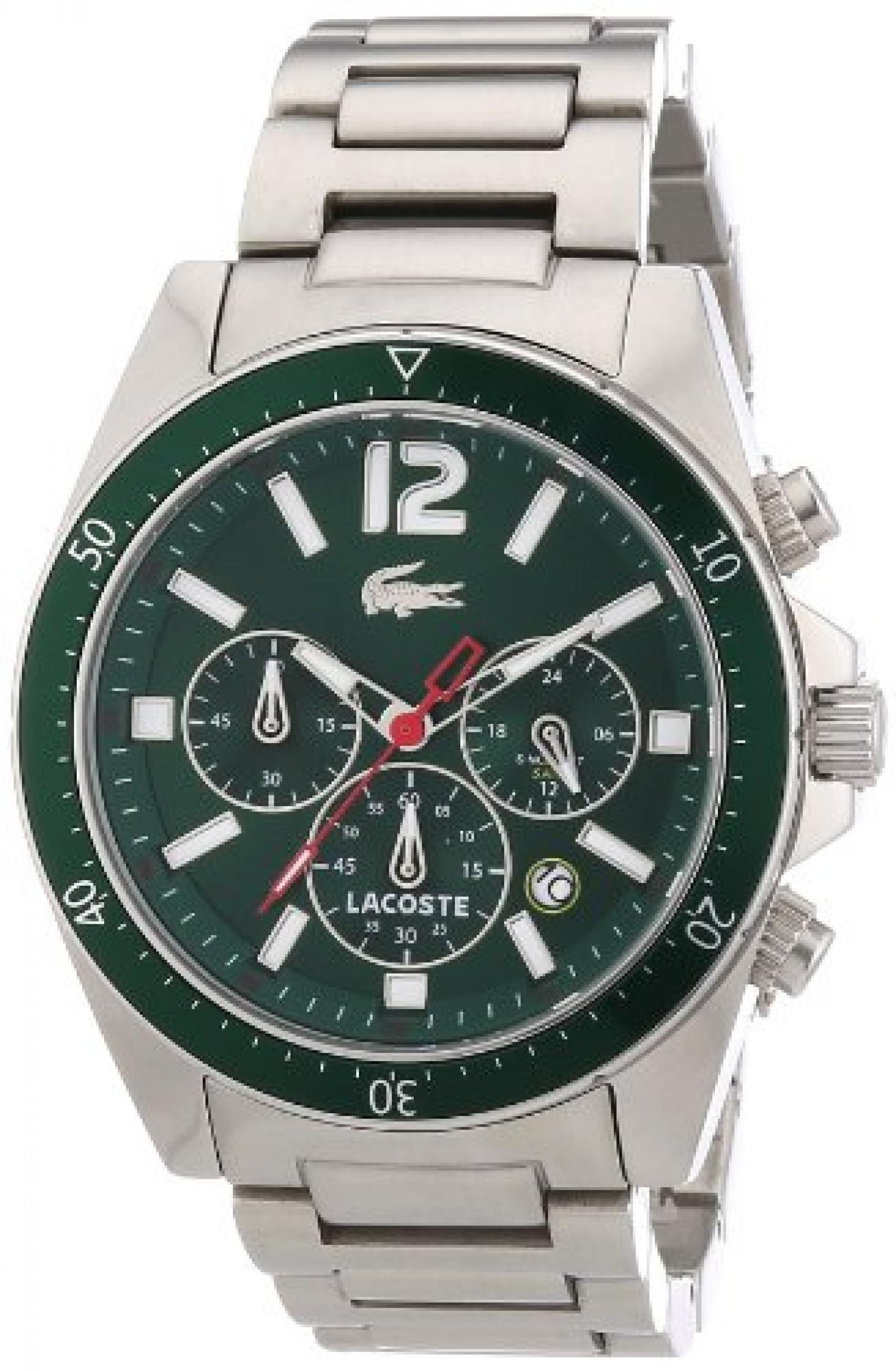 Lacoste Herren-Armbanduhr XL Analog Quarz Edelstahl 2010640