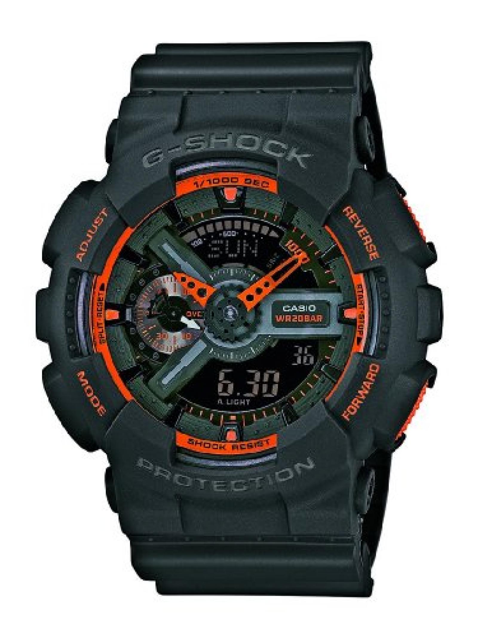Casio Herren-Armbanduhr XL G-Shock Analog - Digital Quarz Resin GA-110TS-1A4ER