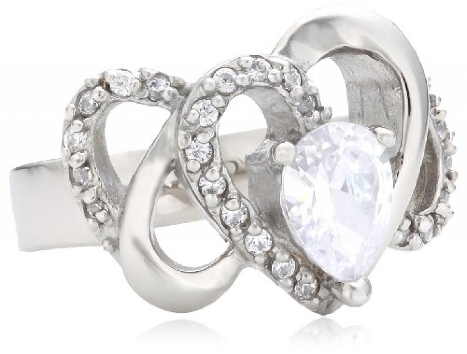 Mike Ellis New York Damen-Ring Edelstahl Zirkonia weiß Gr.52 (16.6) D1506C