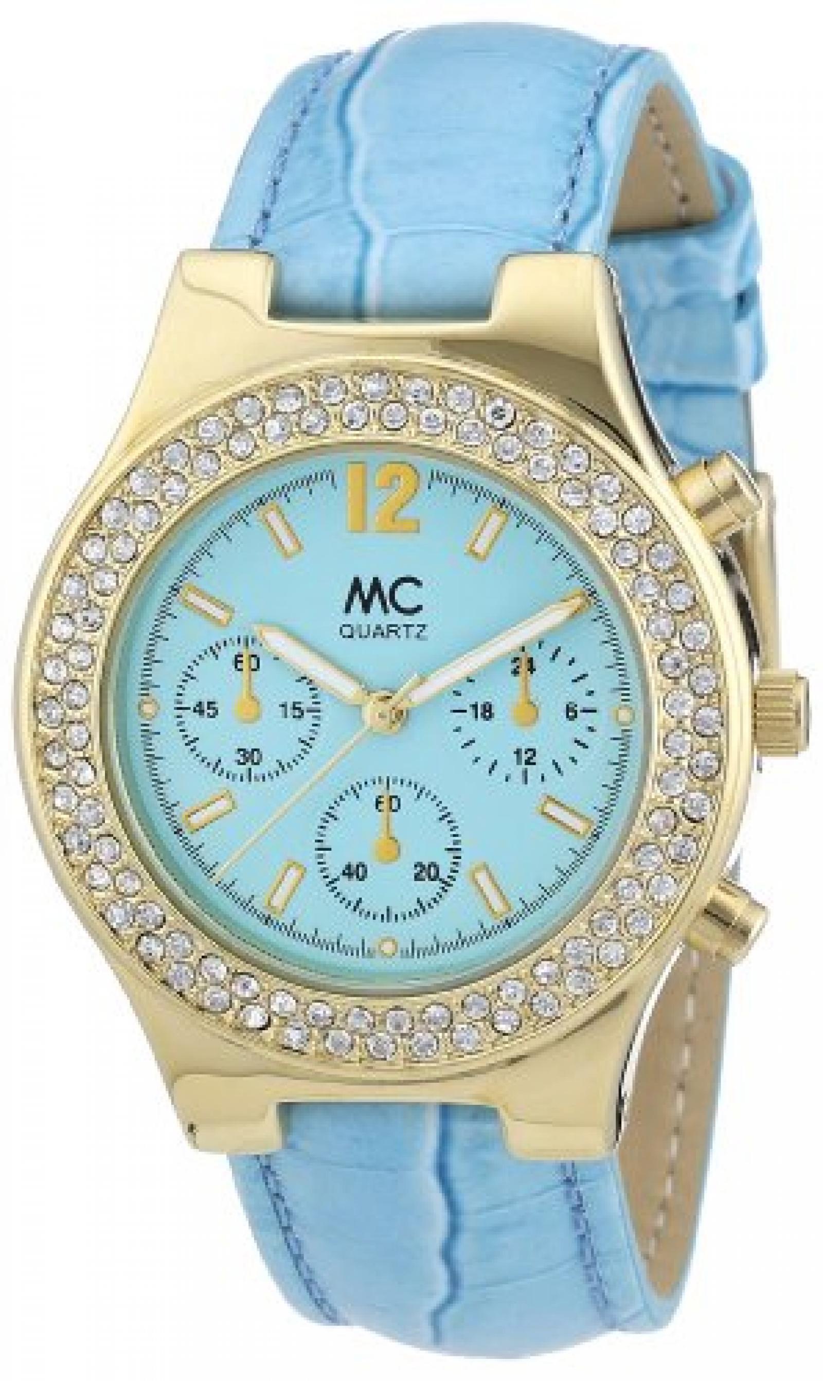 MC Timetrend Damen-Armbanduhr Analog Quarz Leder 27130