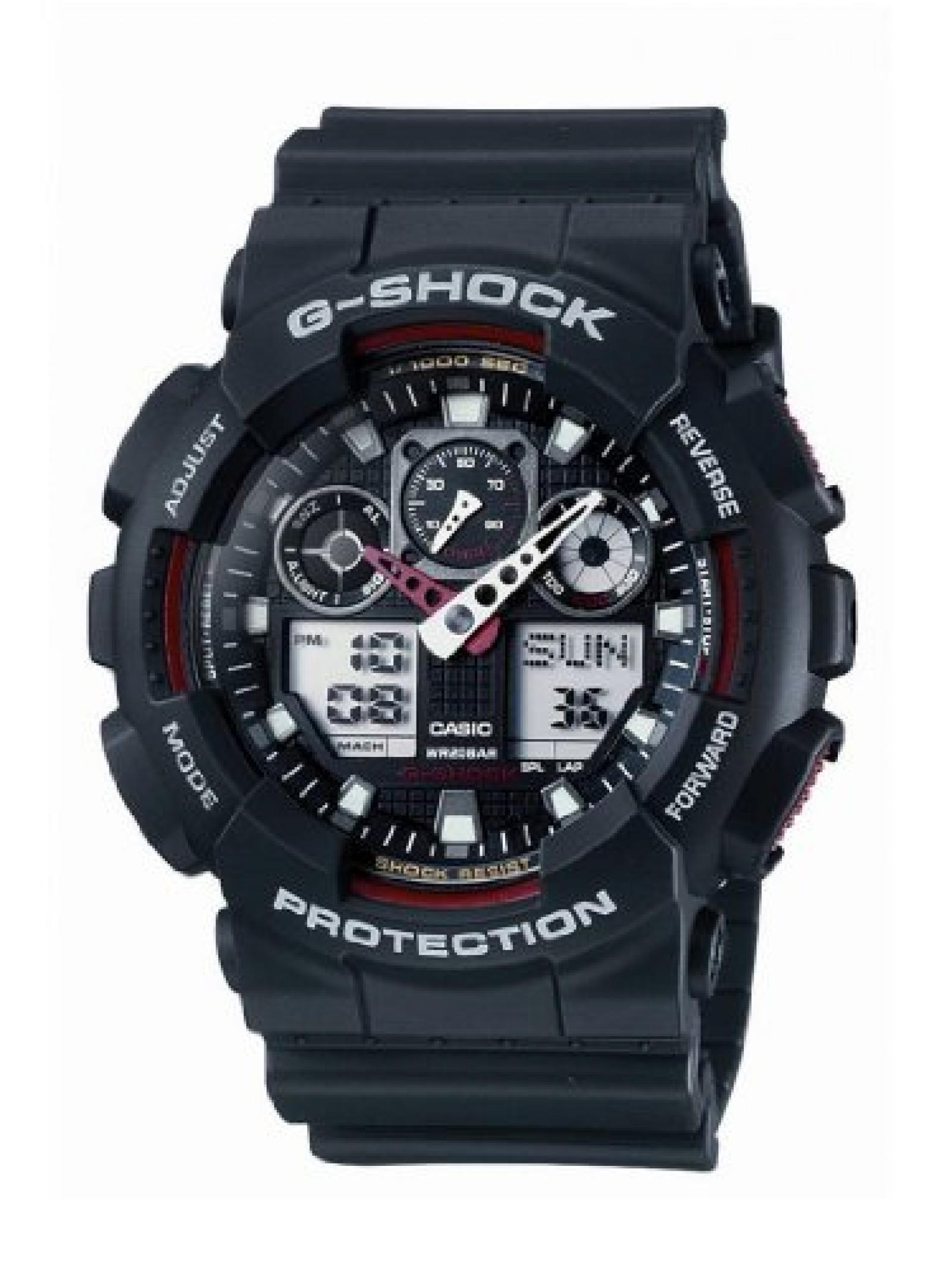 Casio Herren Big Combi G-Shock Watch, Schwarz