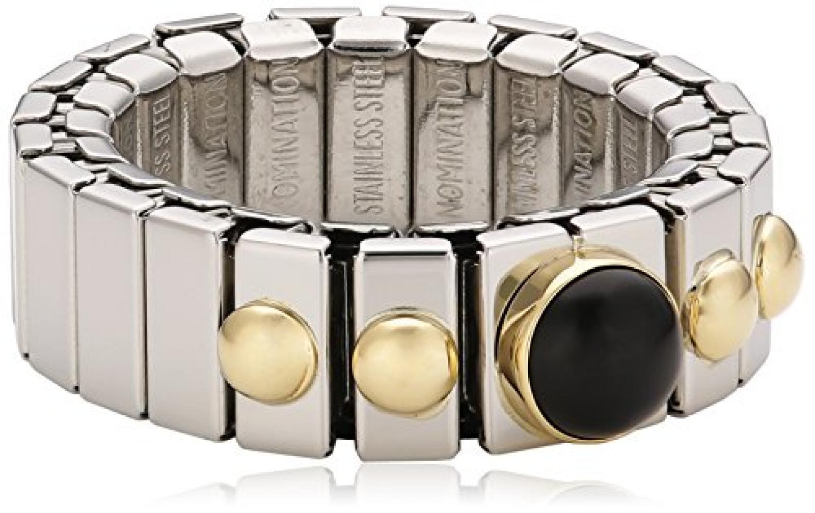 Nomination Damen-Ring Klein Mit 1 in Achat Schwarz Ring größe variabel 040101/002