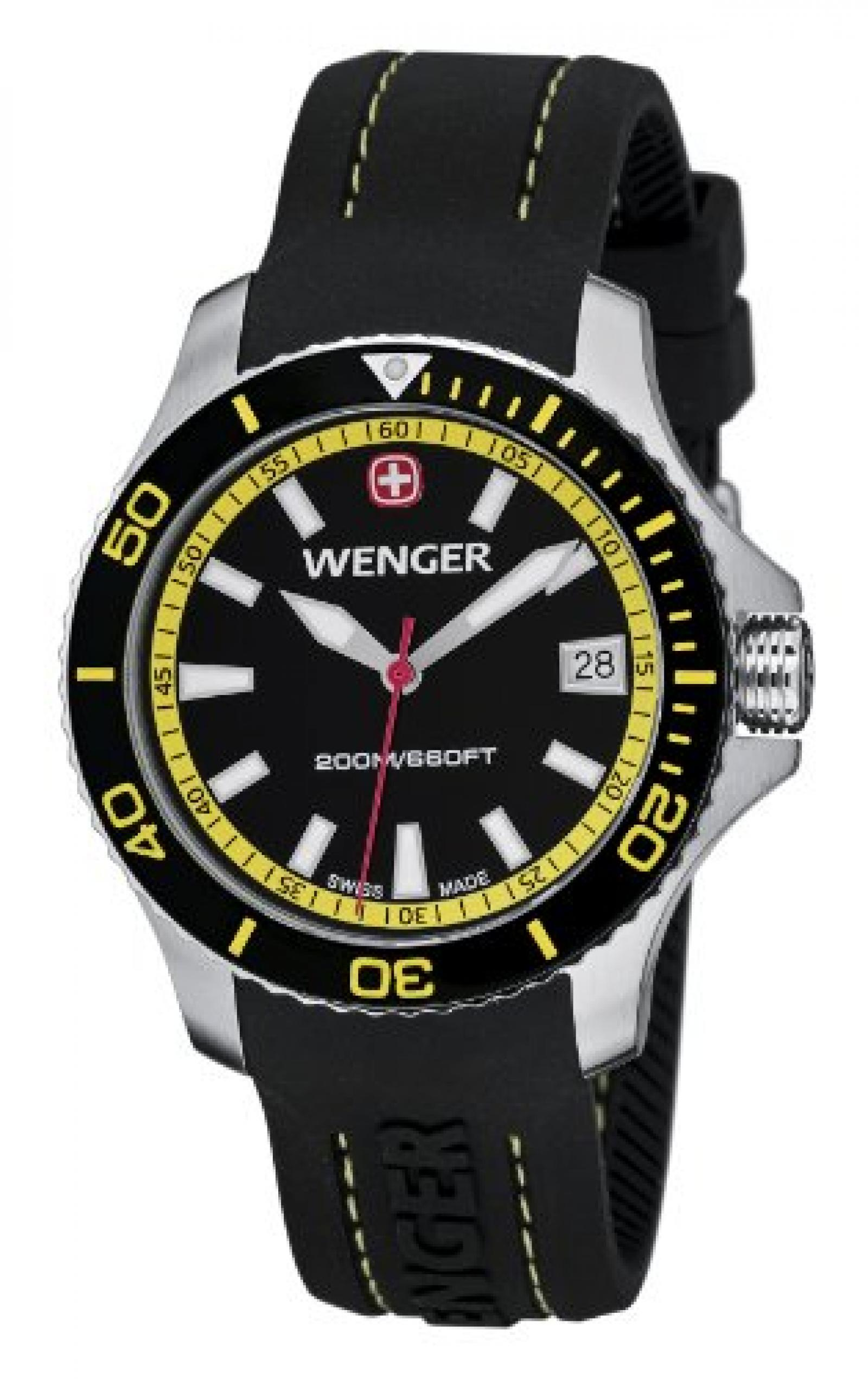 Wenger Damen-Armbanduhr Seaforce Analog Quarz Silikon 01.0621.101