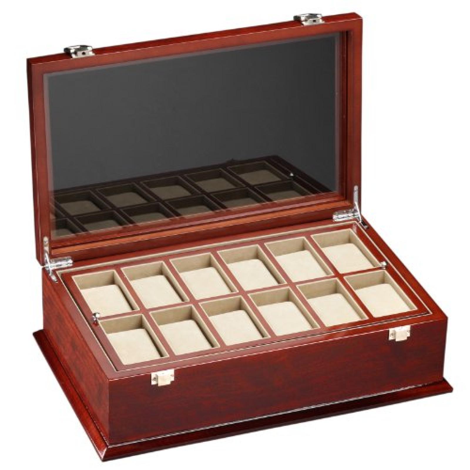 DeTomaso Trend Uhrenbox Grande braun für 18 Uhren WB-380-B