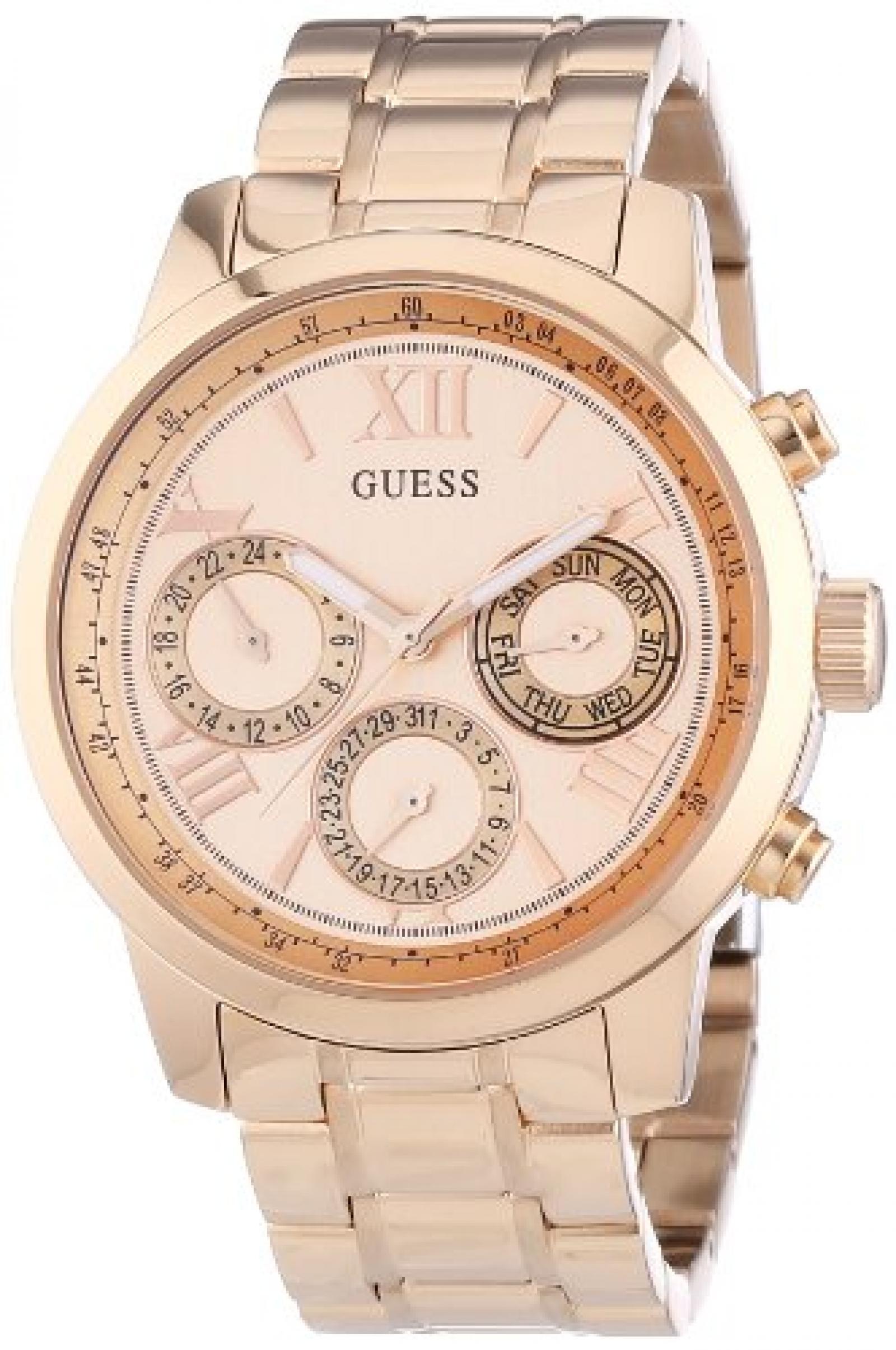 Guess Damen-Armbanduhr Chronograph Quarz Edelstahl W0330L2